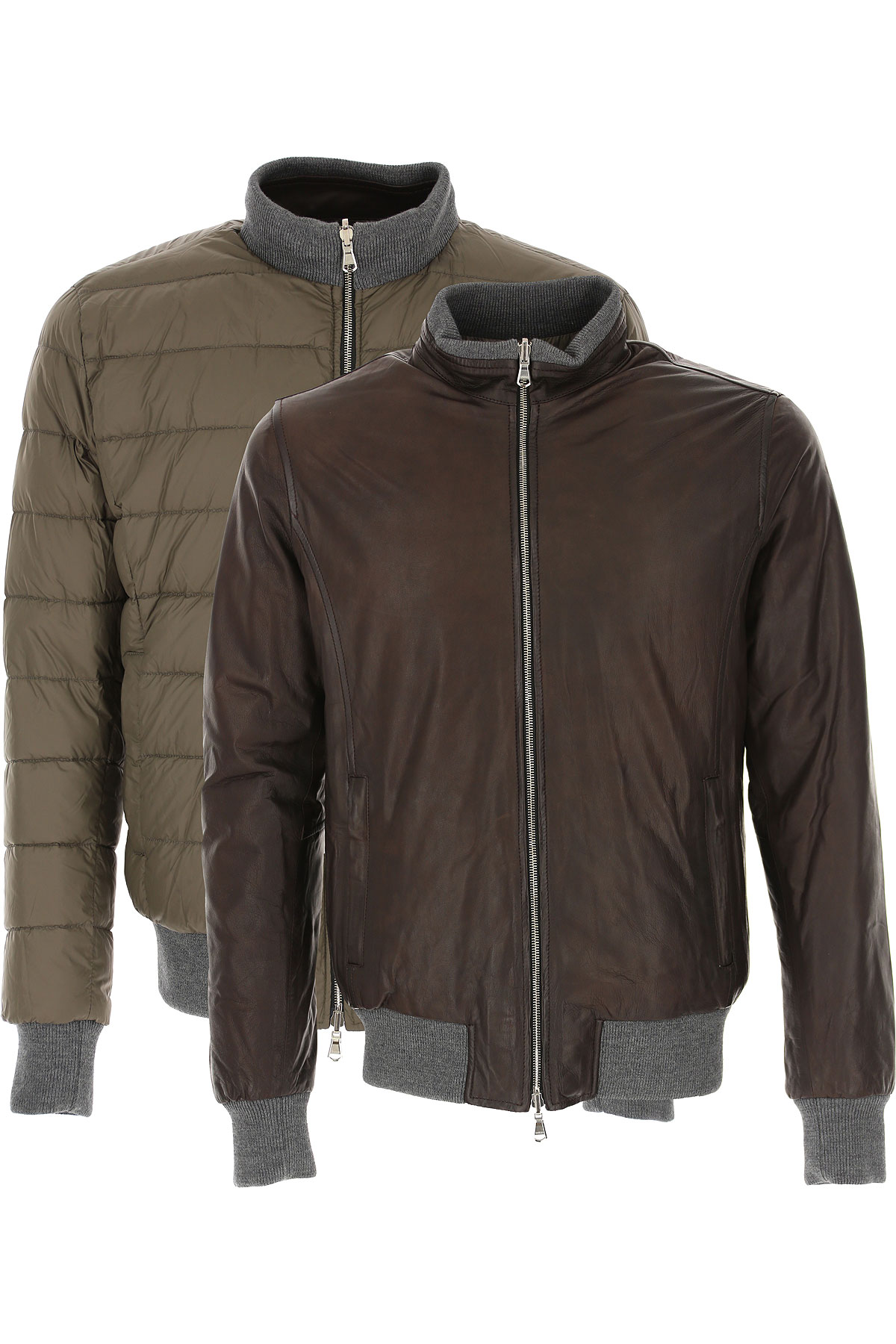 Barba Leather Jacket for Men On Sale, Moro, Leather, 2019, L XXL