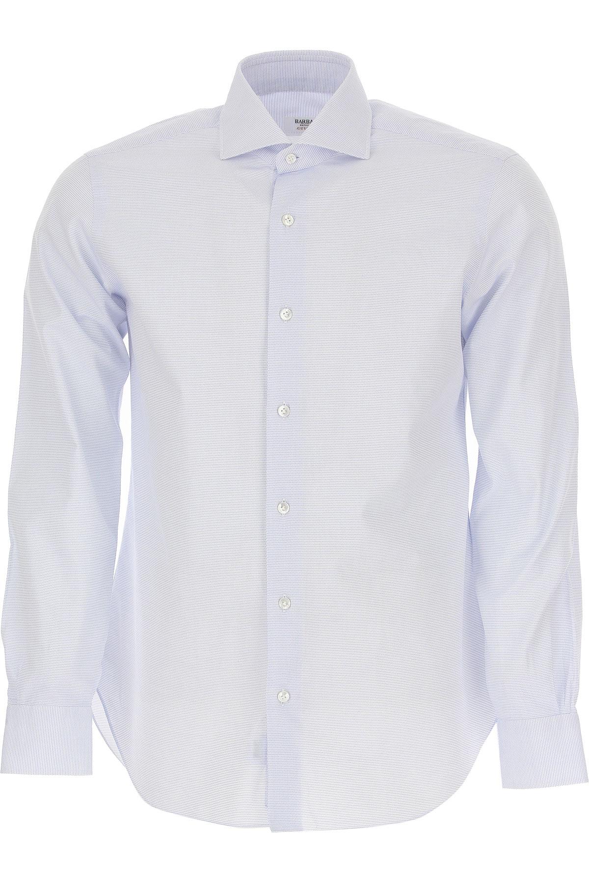 Barba Shirt for Men On Sale, White, Cotton, 2019, 15.75 16.5