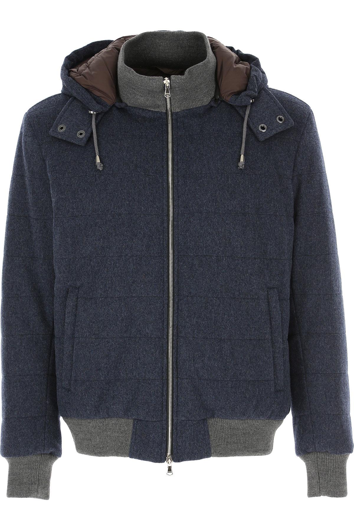 Barba Jacket for Men On Sale, Avio Blue, Wool, 2019, M S XL