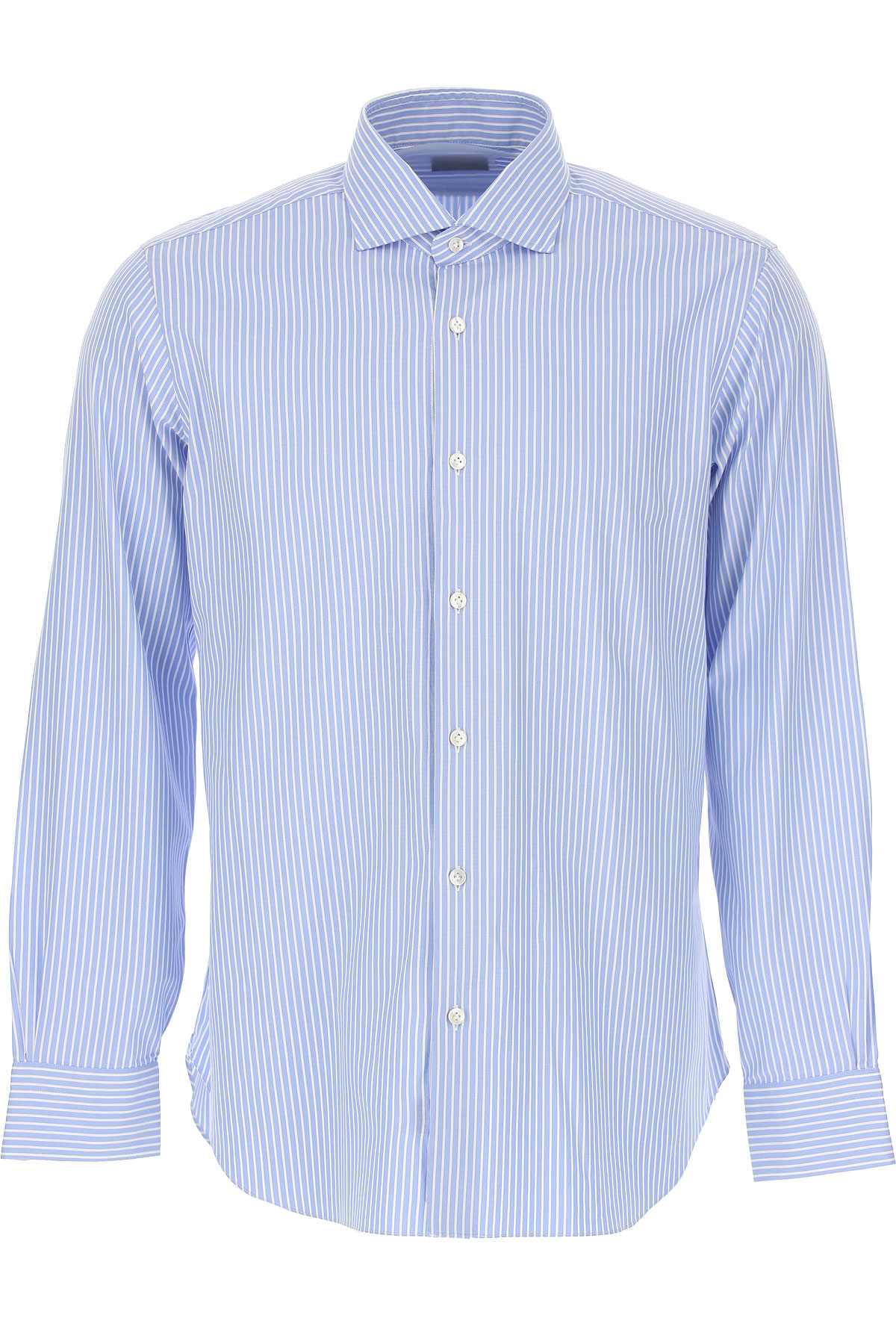 Barba Shirt for Men On Sale in Outlet, Light Blue, Cotton, 2019, 16.5 17 17.5