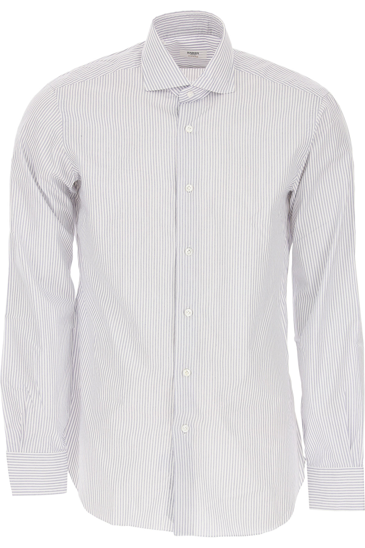 Barba Shirt for Men On Sale in Outlet, White, Cotton, 2019, 16 16.5 17