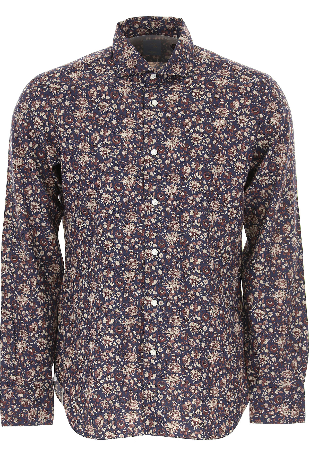 Barba Shirt for Men On Sale in Outlet, Dandy Life, Blue, Cotton, 2019, 17 17.5