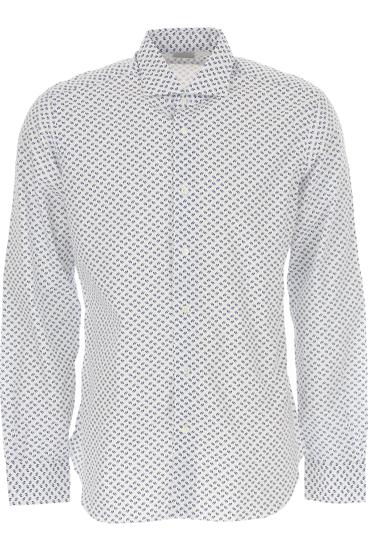 Barba Shirt for Men On Sale in Outlet, White, Cotton, 2019, 16.5 17