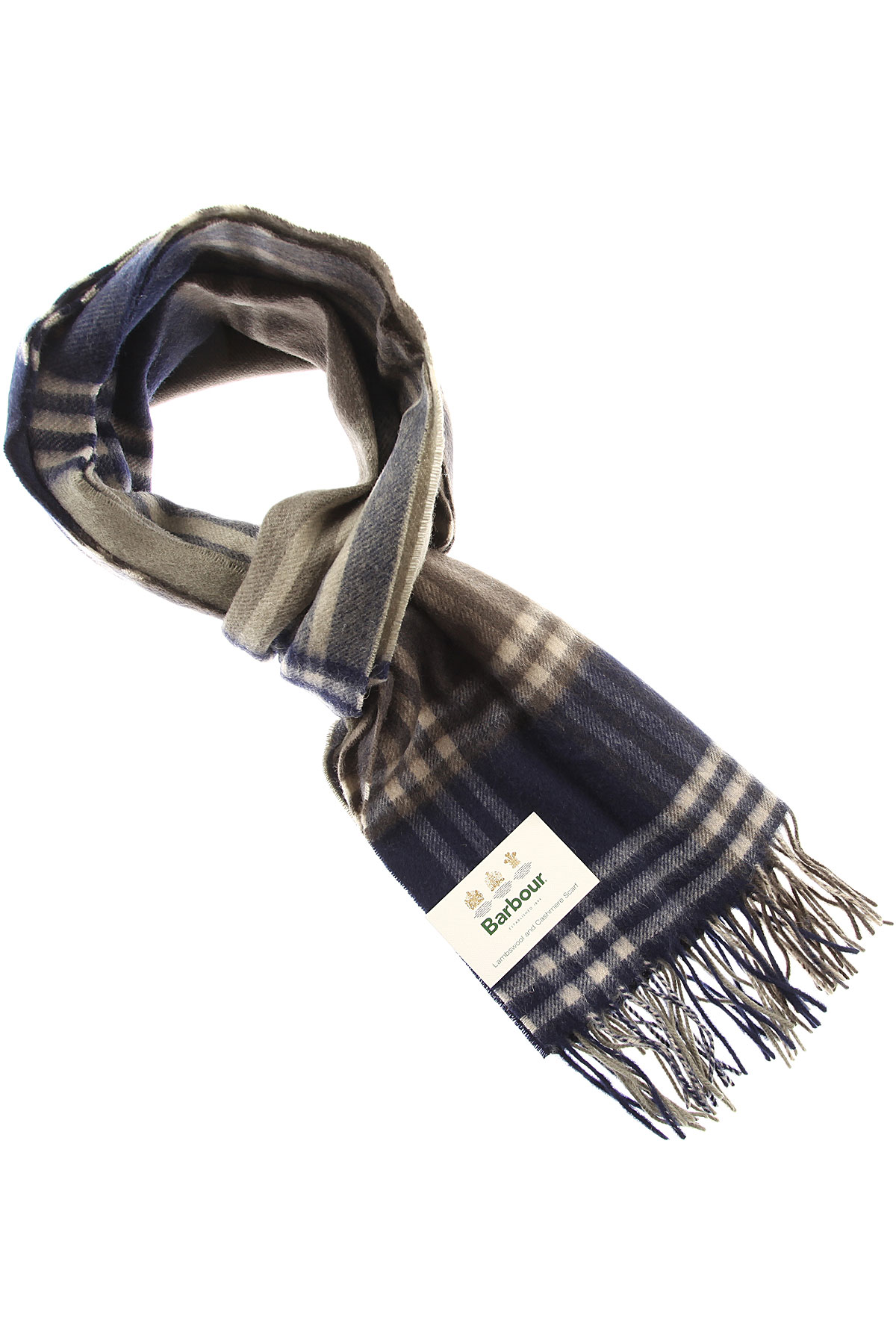 Image of Barbour Scarf for Men, Olive Green, Wool, 2017