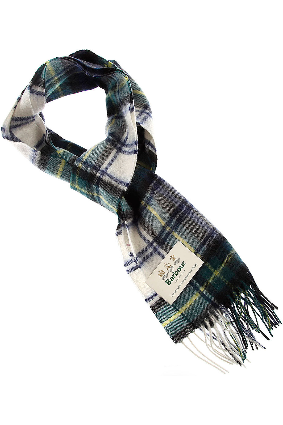 Image of Barbour Scarf for Men, Blue Ink, Lambswool, 2017