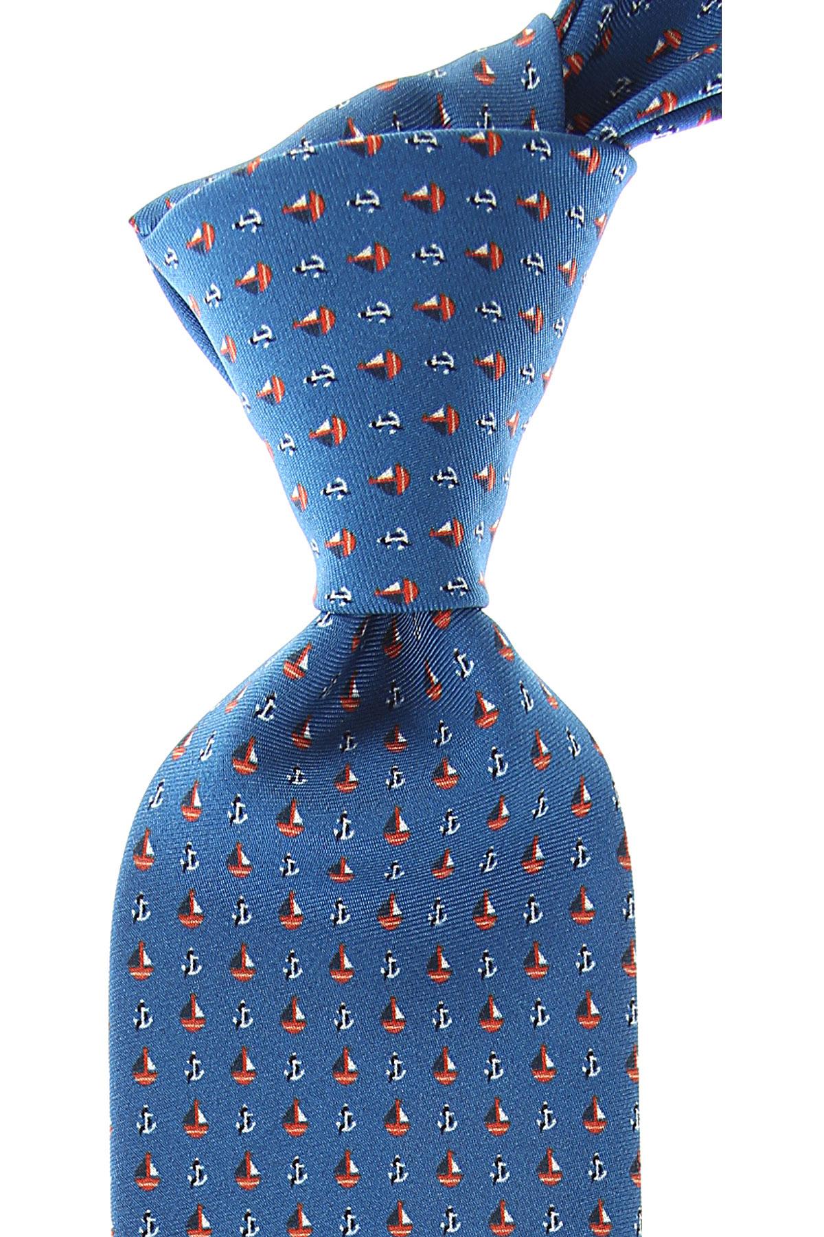 Battistoni Ties On Sale, Blue, Silk, 2019
