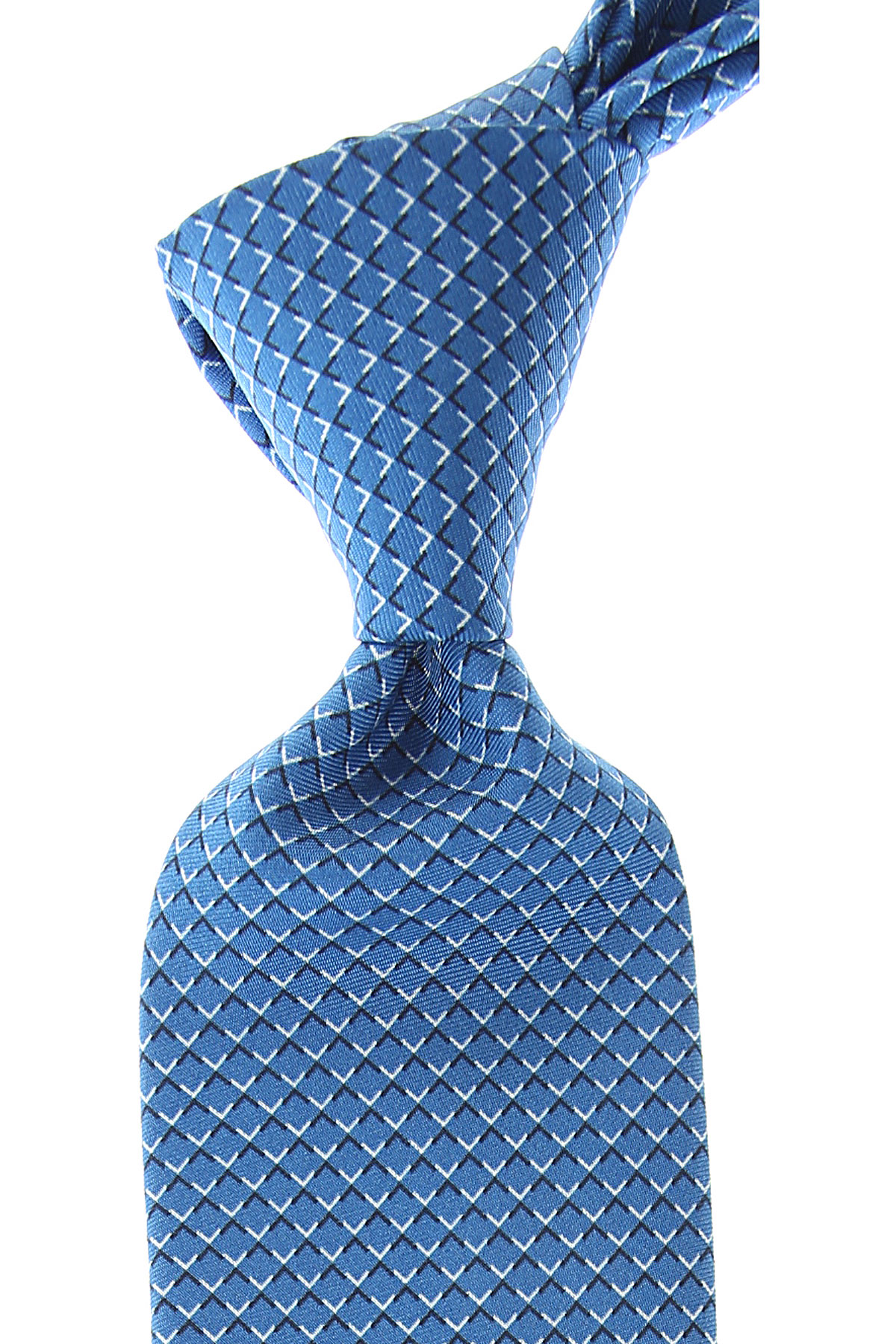 Battistoni Cravates Pas cher en Soldes, Bleu Royal, Soie, 2019
