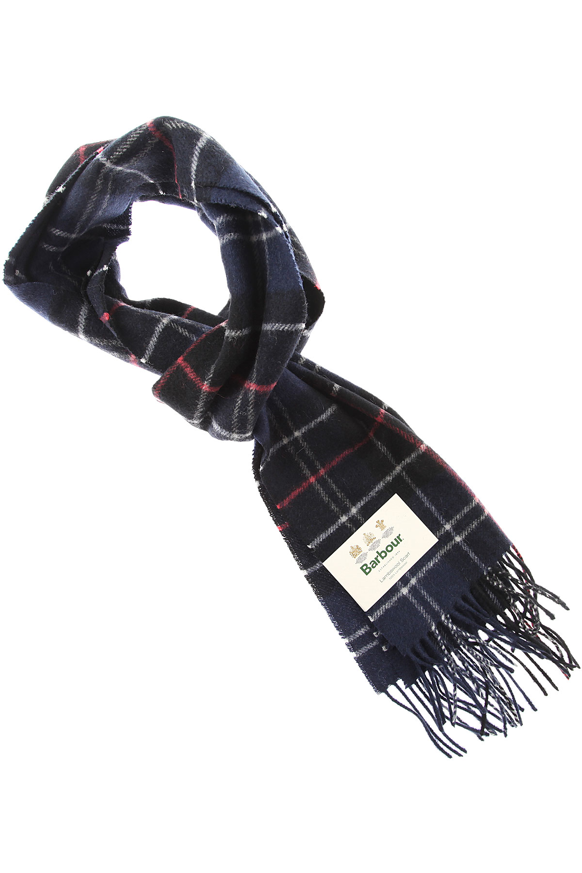 Image of Barbour Scarf for Men, navy, Lambswool, 2017