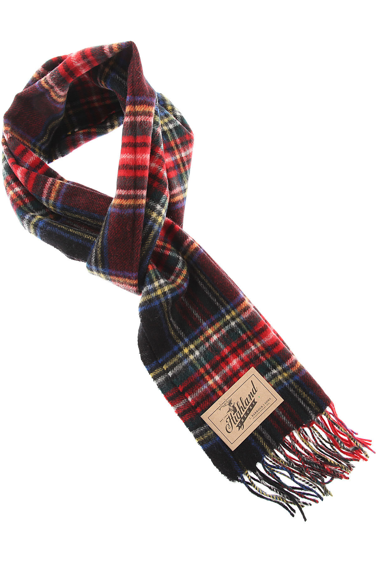 Image of Barbour Scarf for Men, Black, Lambswool, 2017
