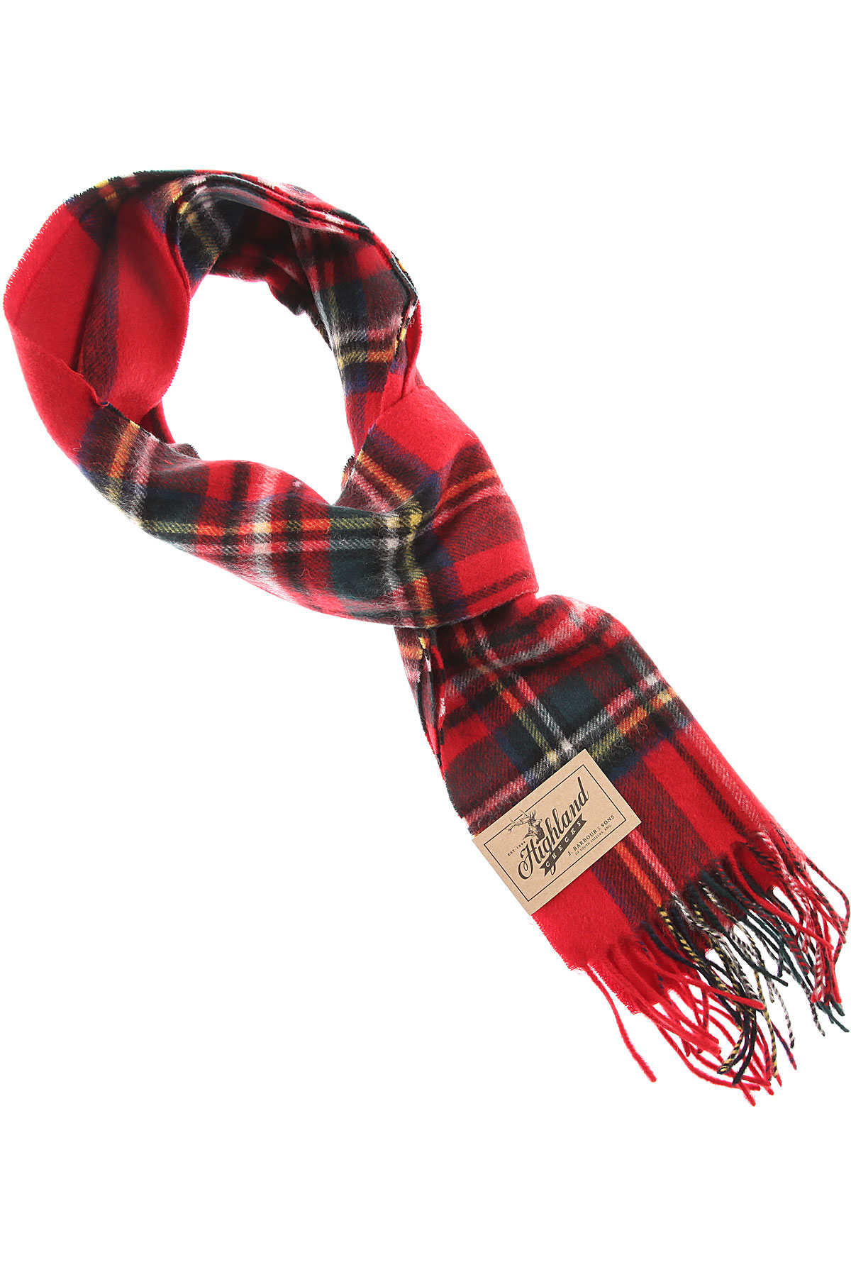 Image of Barbour Scarf for Men, Red, Lambswool, 2017
