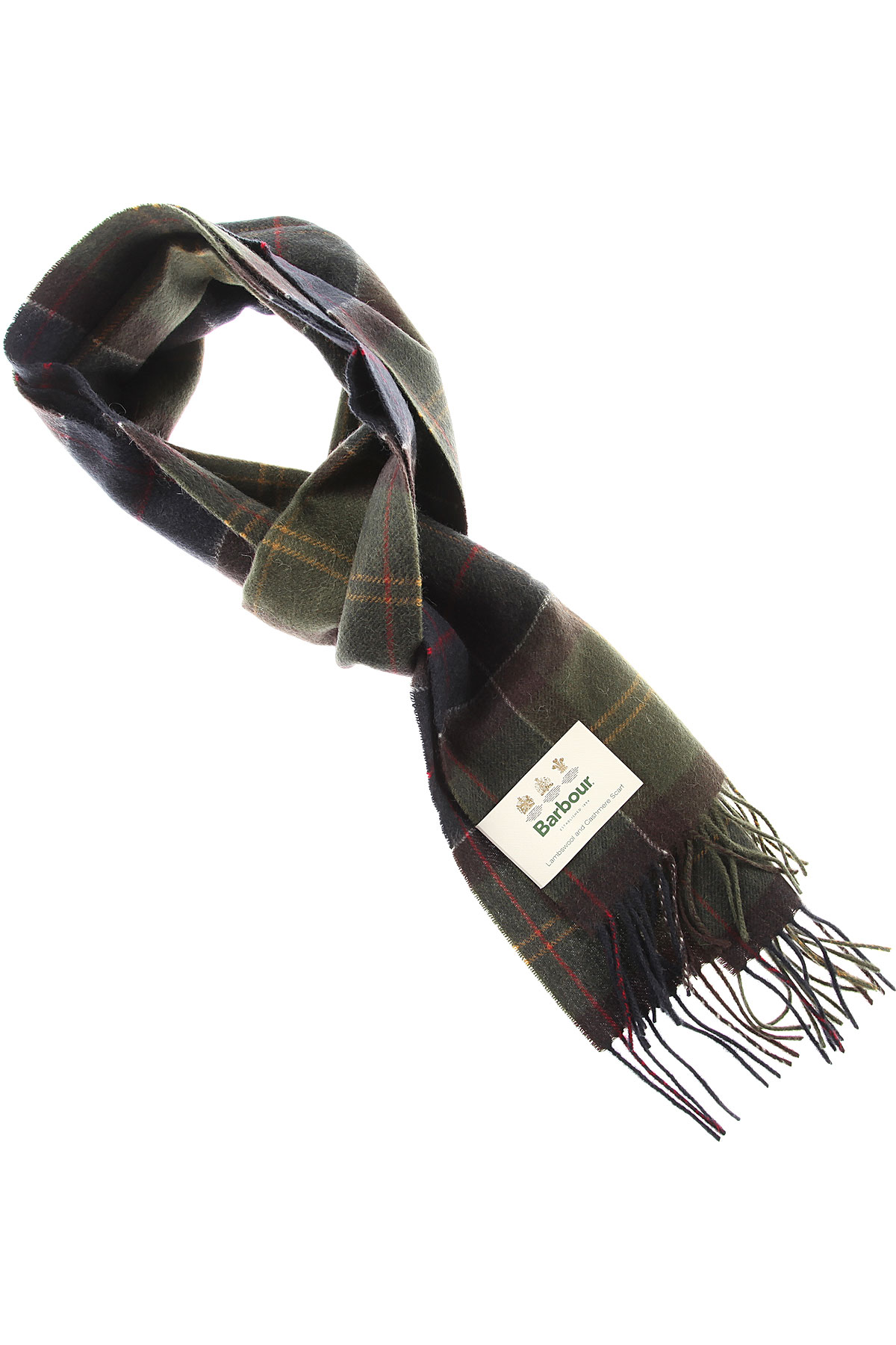 Image of Barbour Scarf for Men, Olive Green, Lambswool, 2017