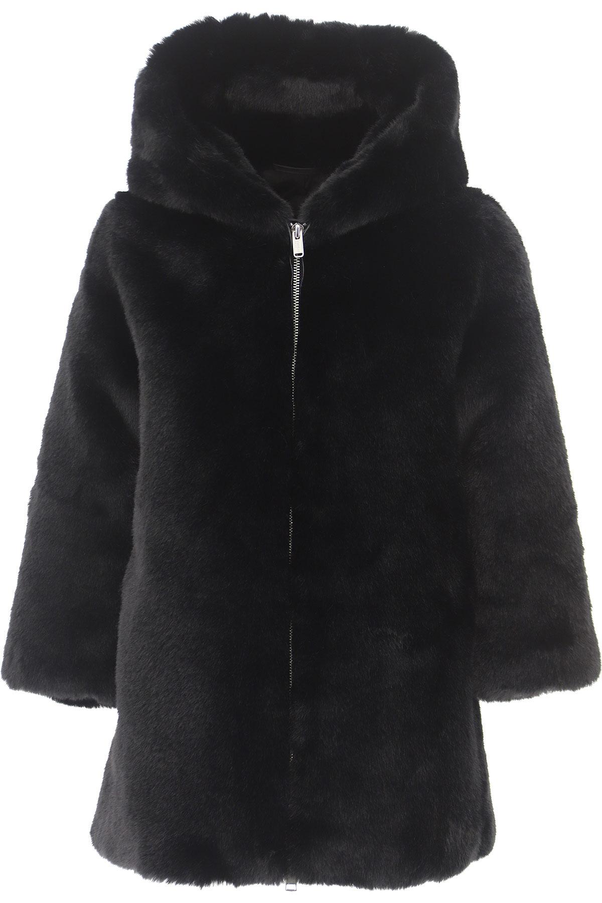 Bomboogie {DESIGNER} Kids Coat for Girls On Sale, Black, polyester, 2019, 14Y 6Y