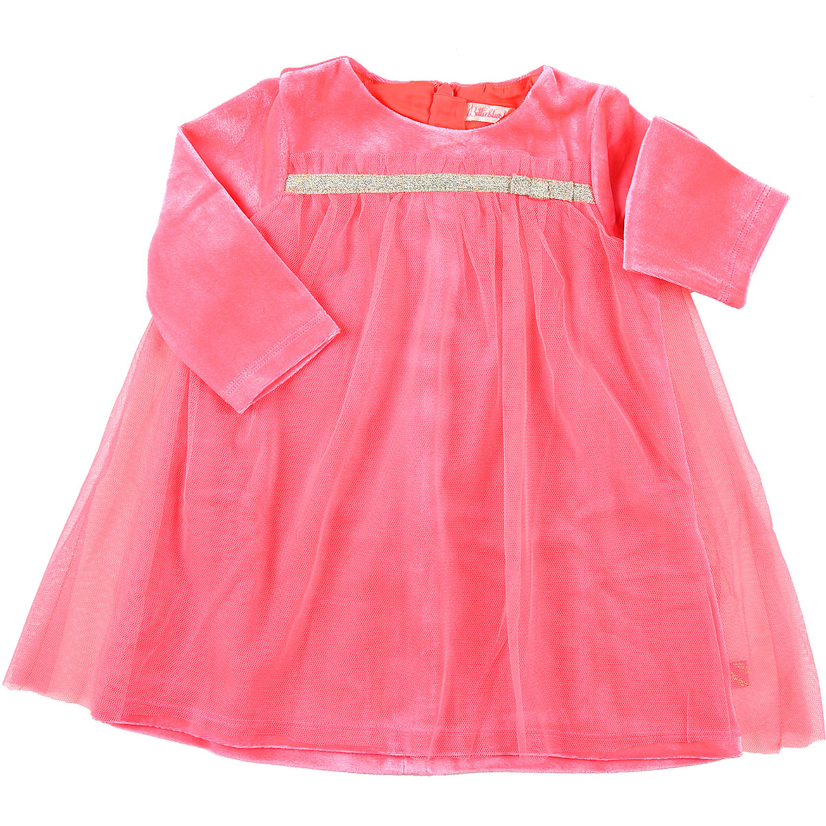 Image of Billieblush Baby Dress for Girls, Fluo Pink, polyester, 2017, 18M 3Y 6M 9M