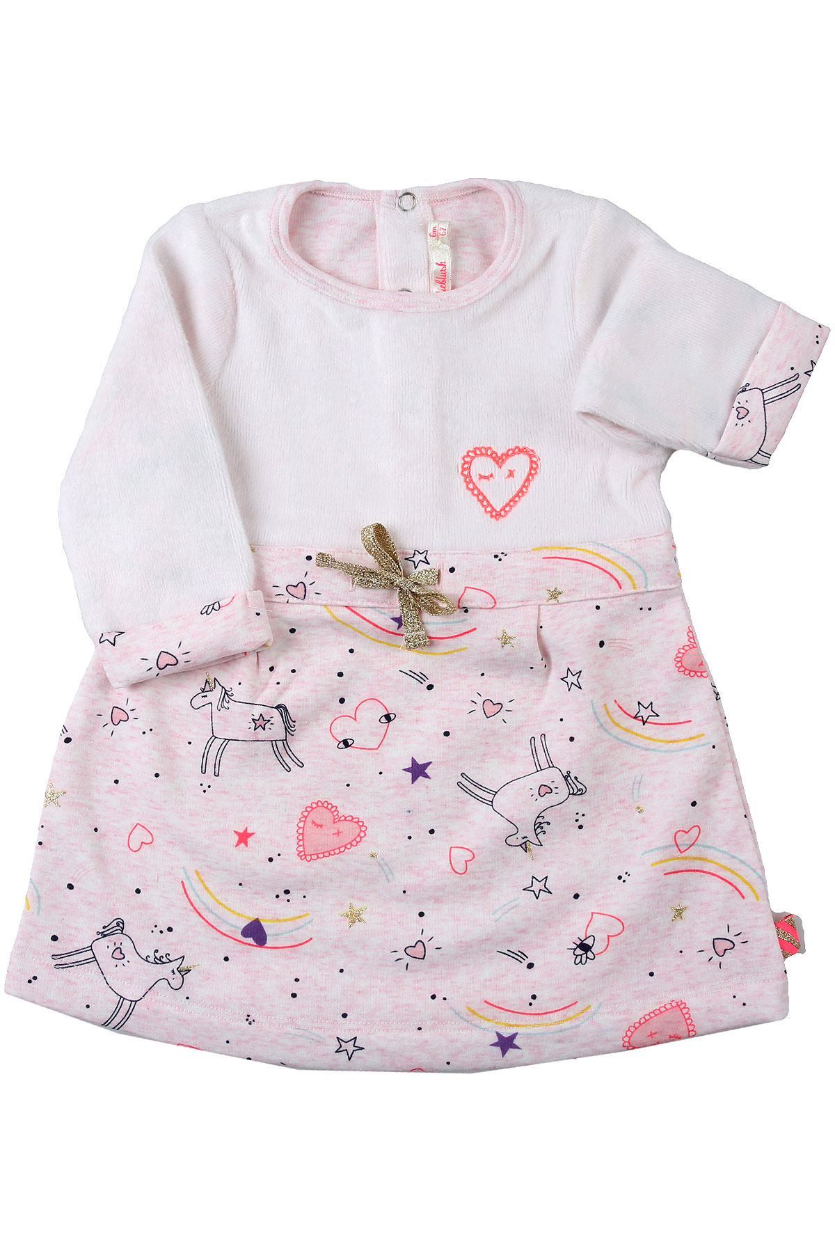 Billieblush Baby Dress for Girls On Sale, Pale Pink, polyester, 2019, 12M 18M 2Y 3Y 6M 9M