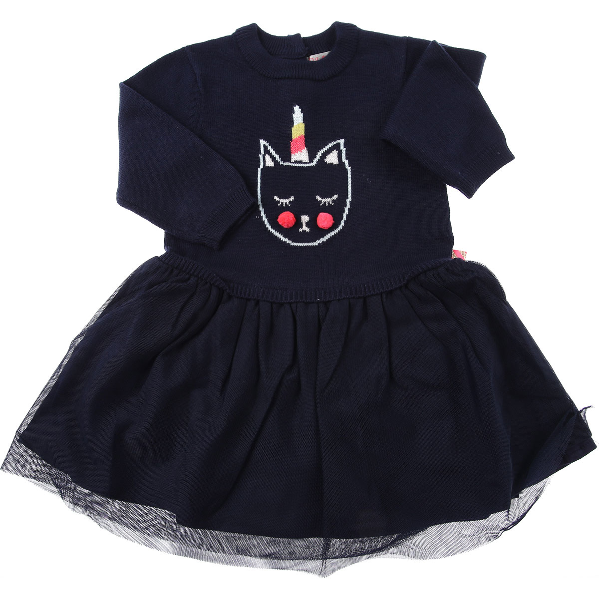 Billieblush Baby Dress for Girls On Sale, navy, polyamide, 2019, 12M 18M 6M 9M