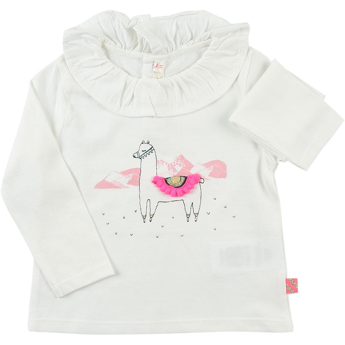 Image of Billieblush Baby T-Shirt for Girls, White, Cotton, 2017, 12M 6M 9M