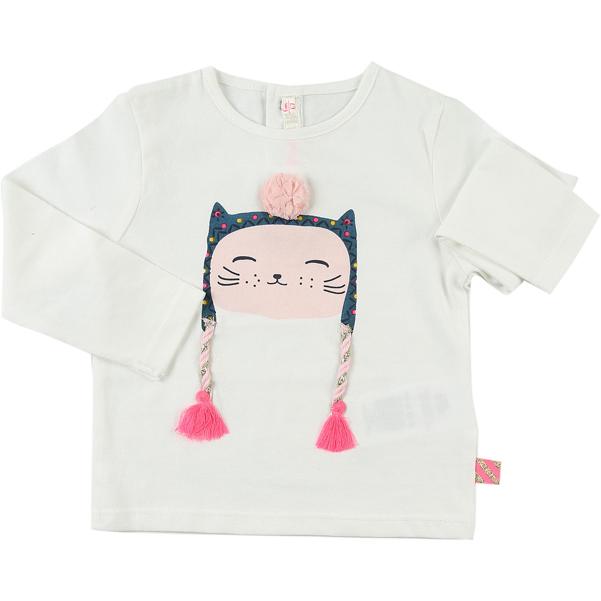 Image of Billieblush Baby T-Shirt for Girls, White, Cotton, 2017, 3Y 6M
