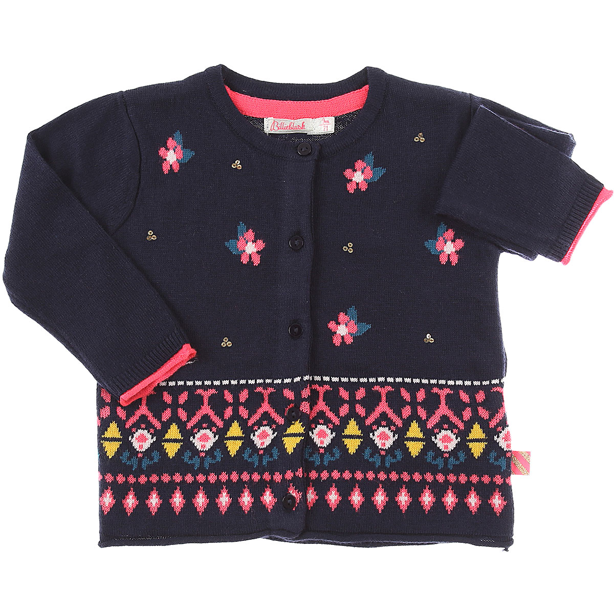 Image of Billieblush Baby Sweaters for Girls, Blue, polyamide, 2017, 12M 18M 2Y 3Y 6M 9M