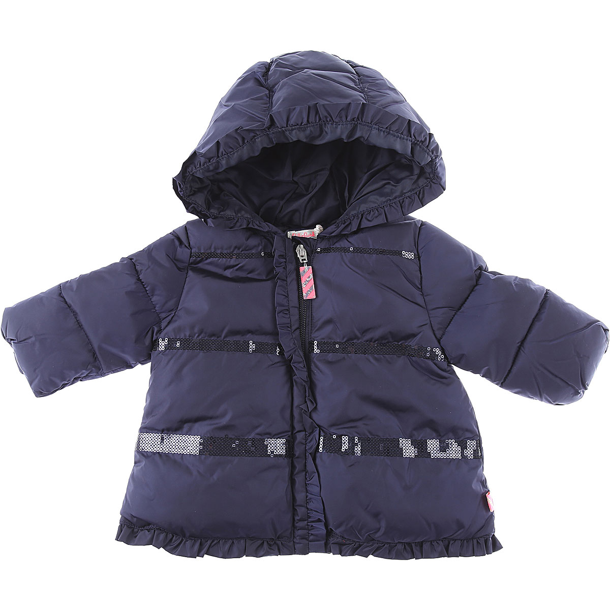 Billieblush Baby Down Jacket for Girls On Sale, Blue, polyamide, 2019, 12M 18M 2Y 6M 9M
