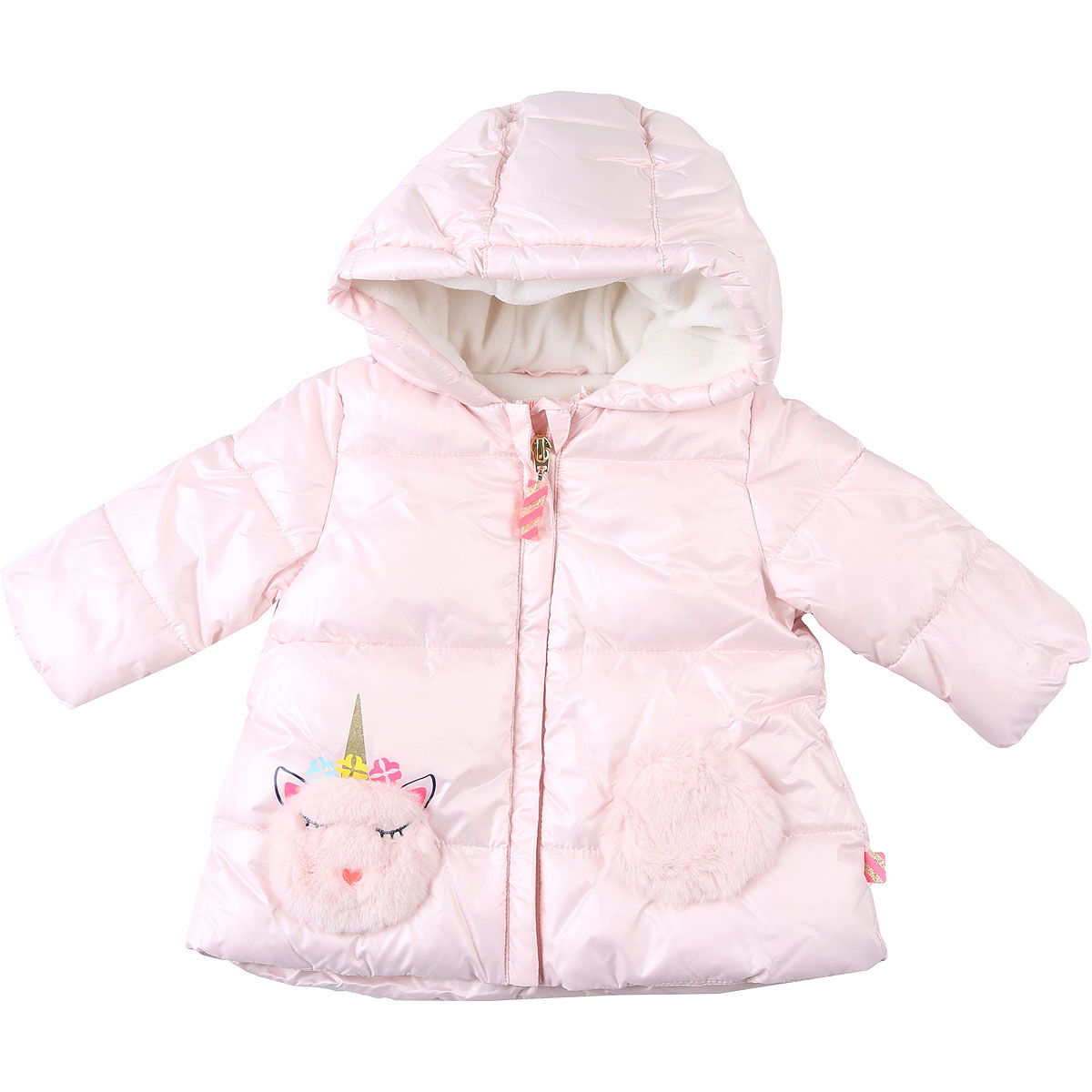 Billieblush Baby Down Jacket for Girls On Sale, Pink, polyester, 2019, 12M 2Y 6M 9M