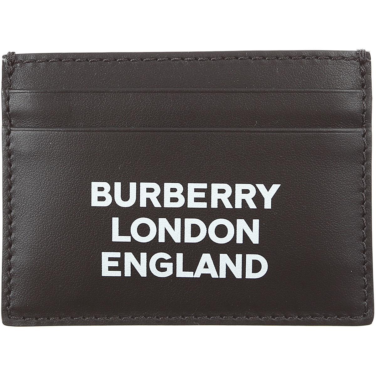 Burberry Card Holder for Men On Sale, Black, Leather, 2019