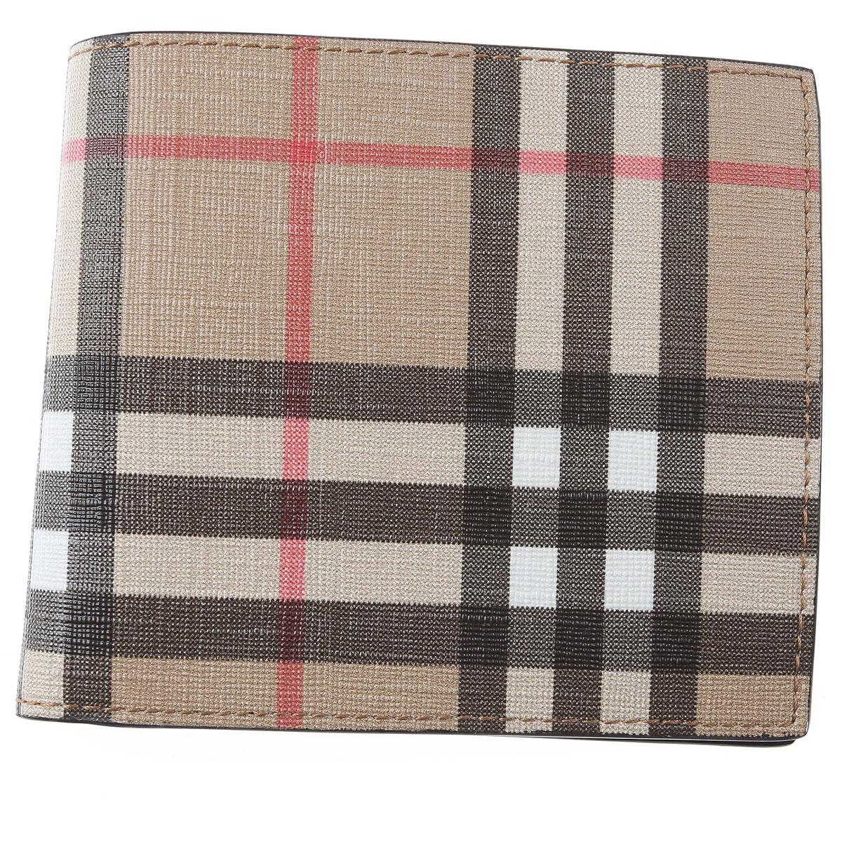 Burberry Wallet for Men On Sale, Beige Check, polyurethane, 2019