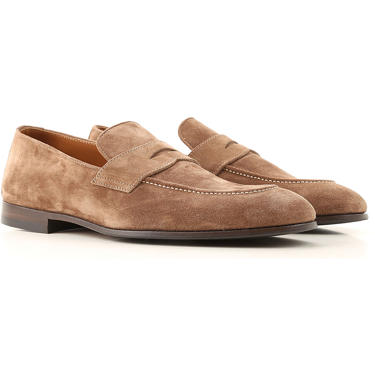 Brunello Cucinelli Loafers for Men On Sale, Mud, Suede leather, 2019, 10 7.5 8 9