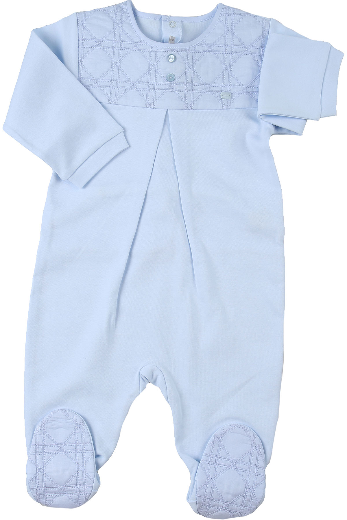 Baby Dior Baby Bodysuits & Onesies for Boys On Sale, Skyblue, Cotton, 2019, 1M 3M 6M