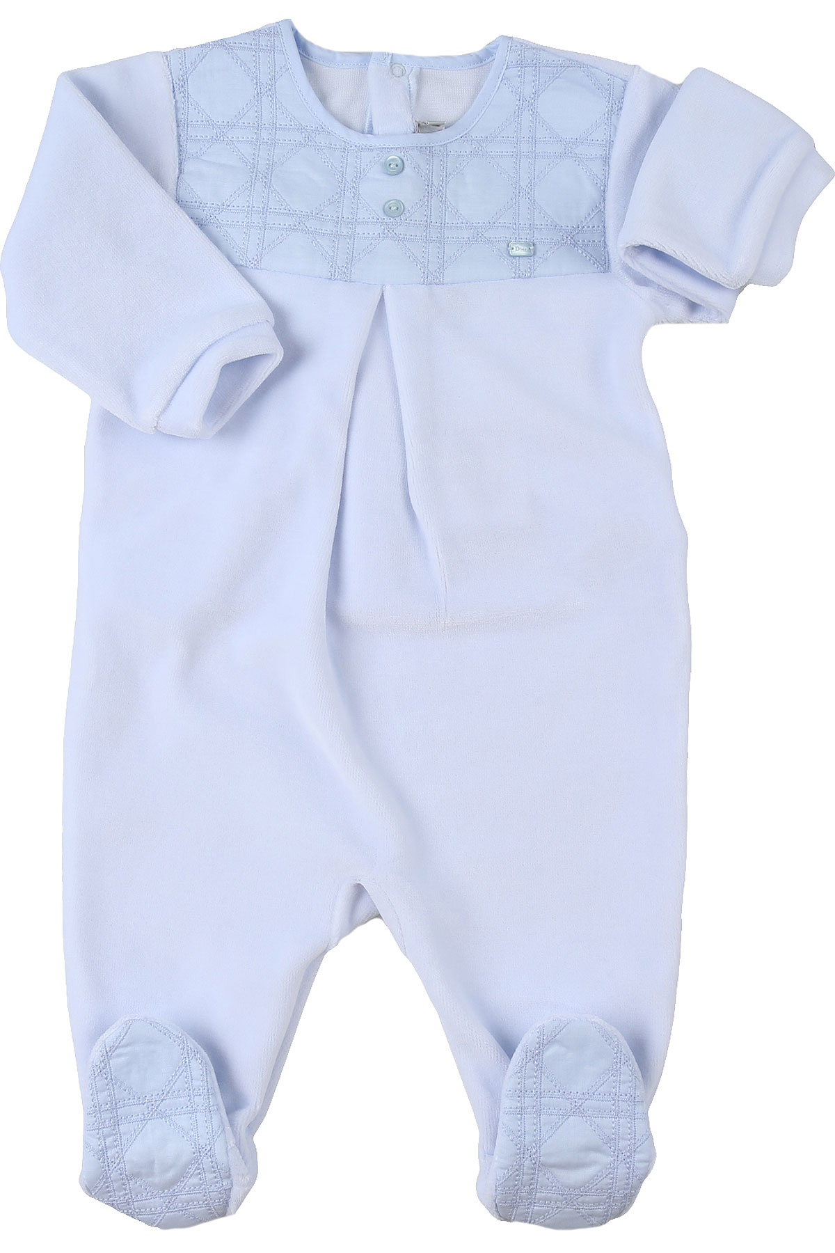 Baby Dior Baby Bodysuits & Onesies for Boys, Skyblue, Cotton, 2019, 1M 3M 6M