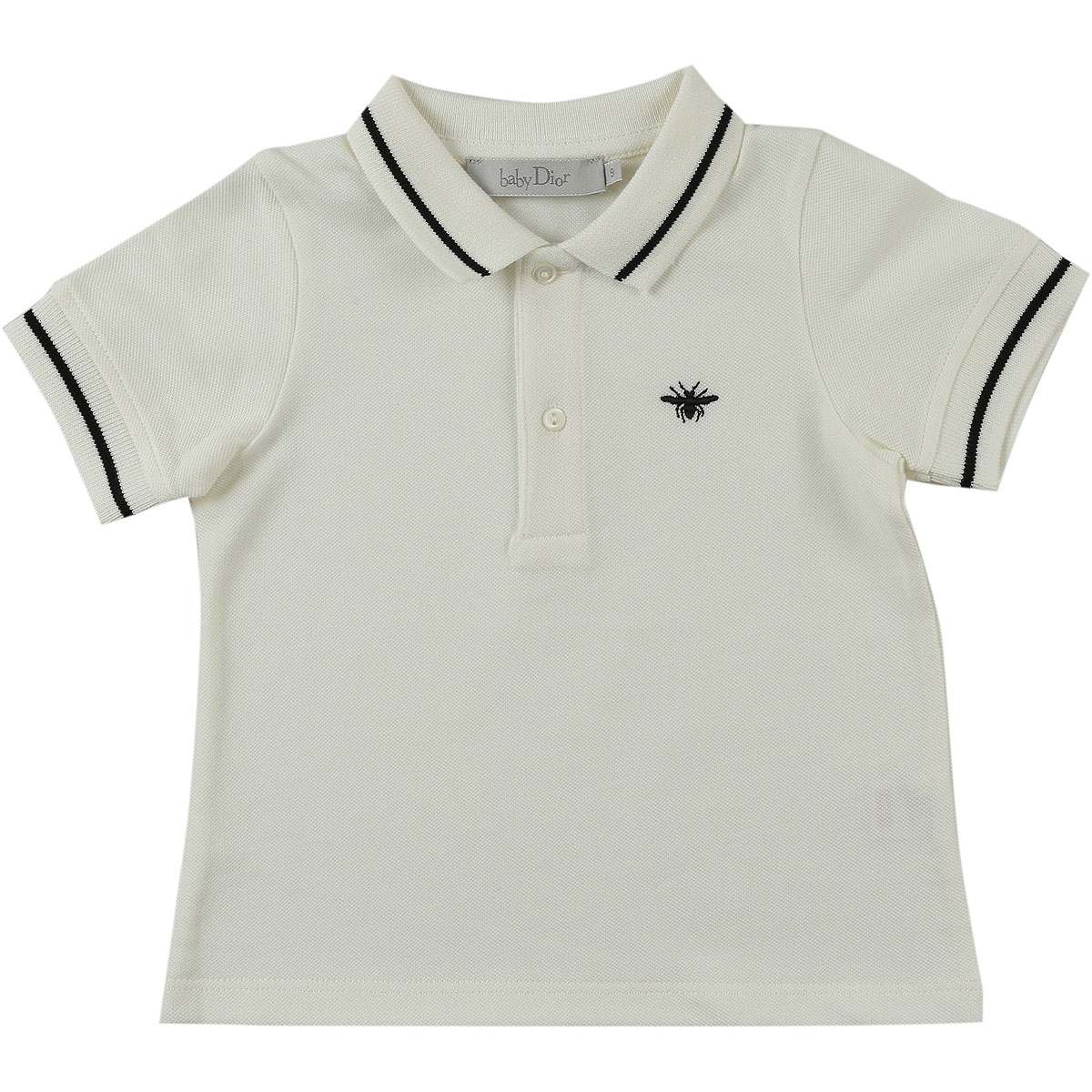 Image of Baby Dior Baby Polo Shirt for Boys, White, Cotton, 2017, 12M 18M 2Y 3Y 6M 9M