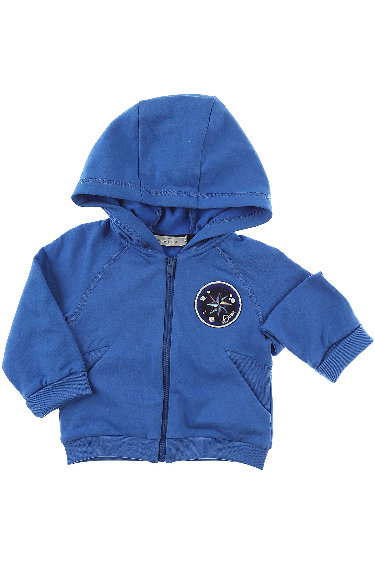Image of Baby Dior Baby Sweatshirts & Hoodies for Boys, Blue, Cotton, 2017, 12M 18M 2Y 3Y 6M 9M