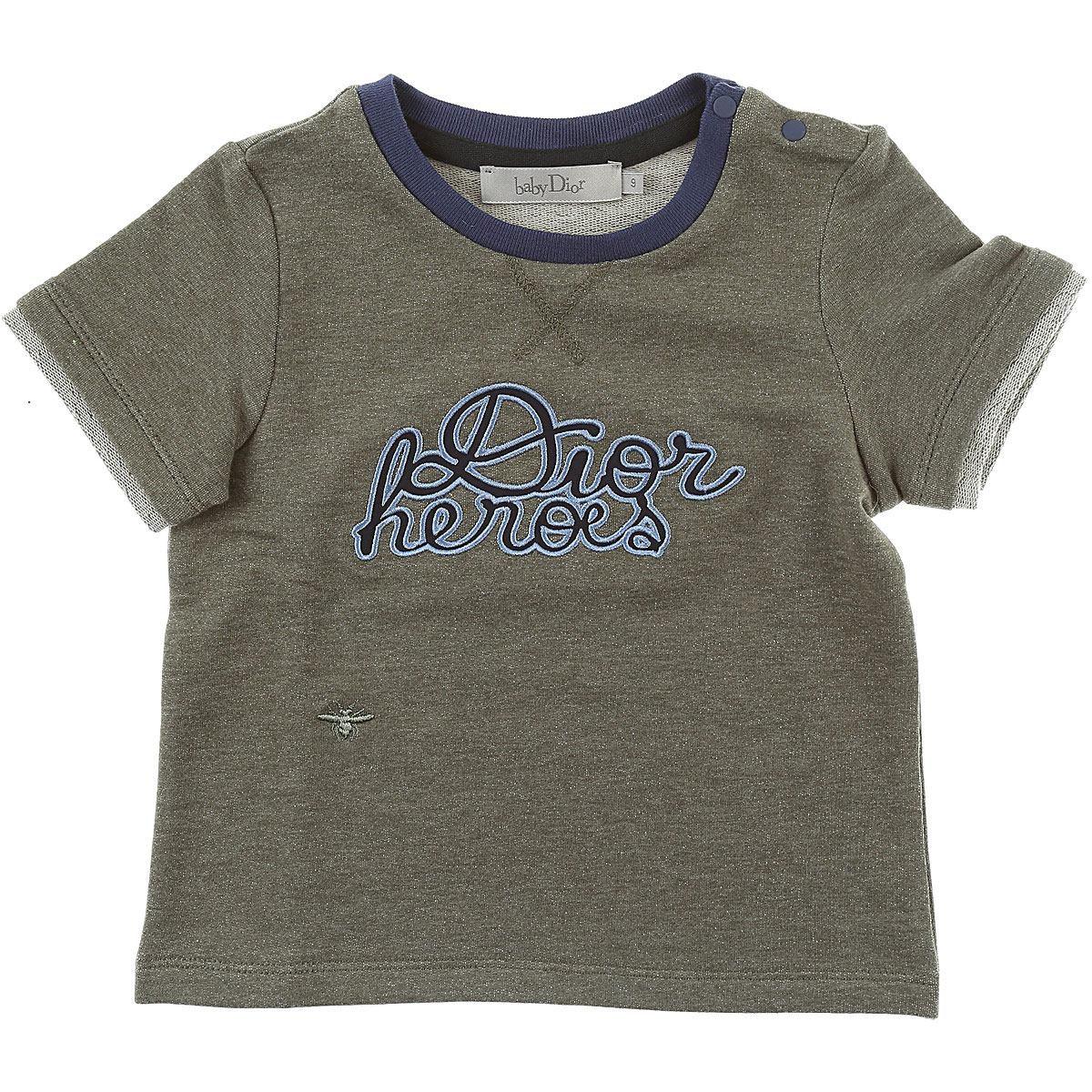 Image of Baby Dior Baby T-Shirt for Boys, Green, Cotton, 2017, 12M 18M 2Y 3Y 6M 9M