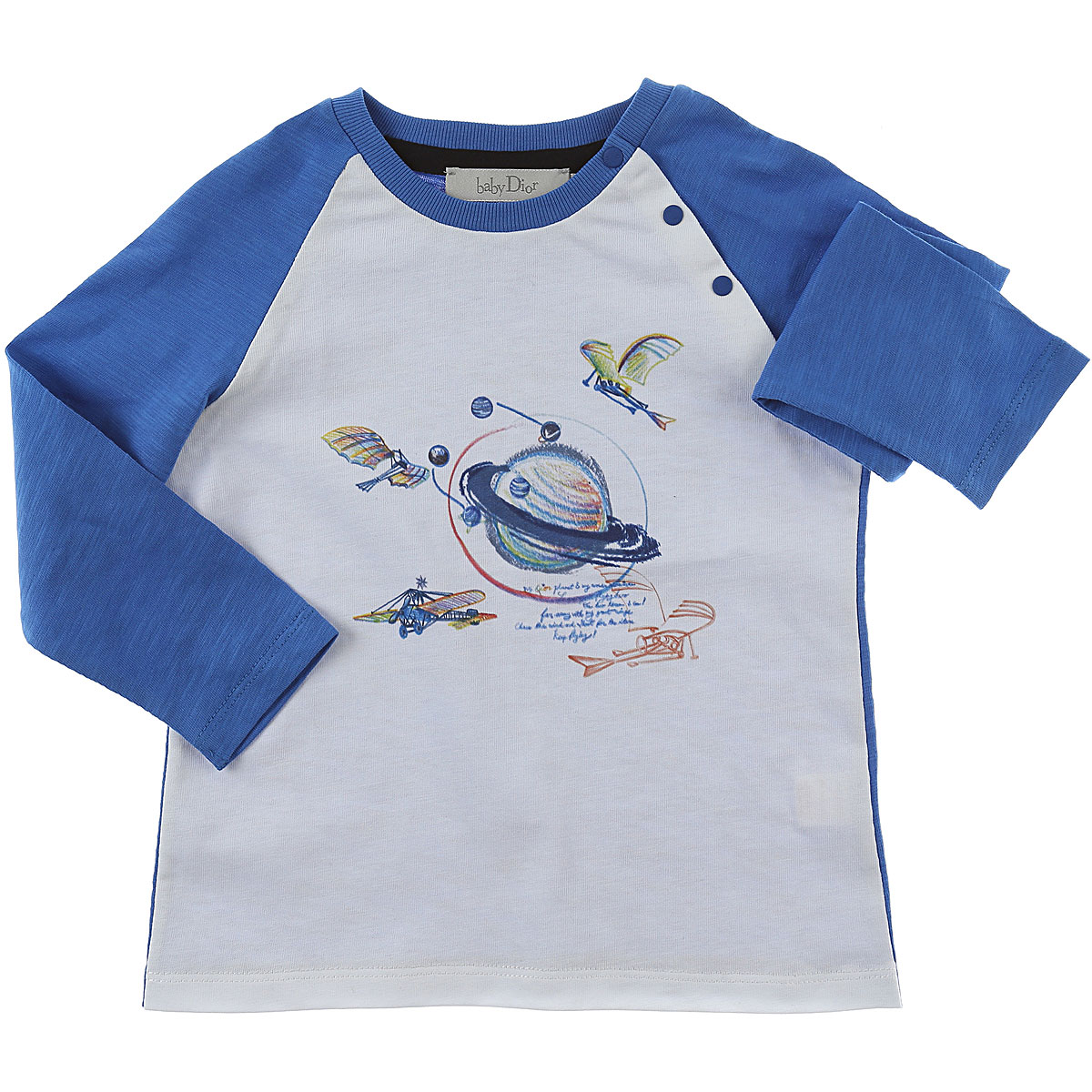 Image of Baby Dior Baby T-Shirt for Boys, White, Cotton, 2017, 12M 18M 2Y 3Y 6M 9M
