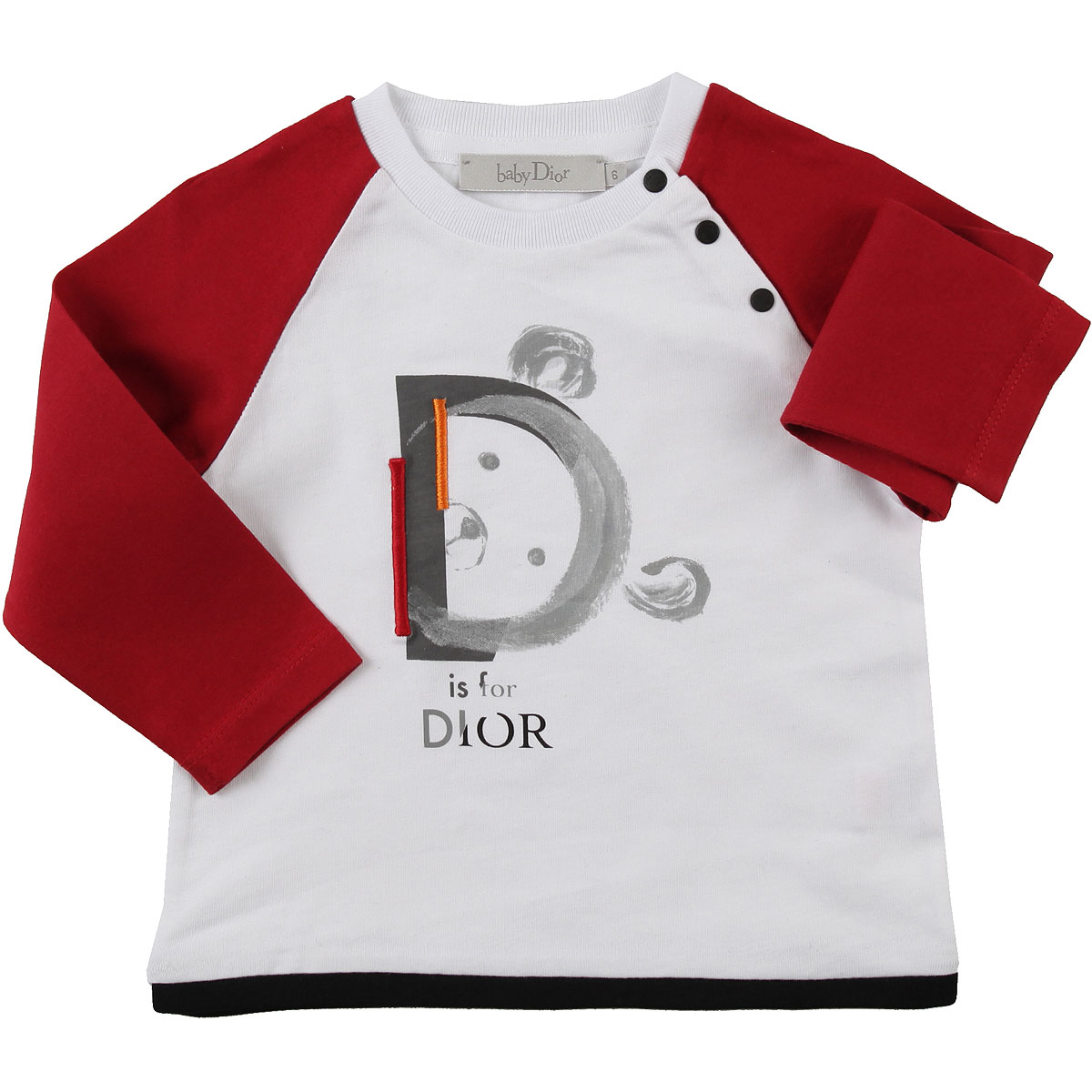 Image of Baby Dior Baby T-Shirt for Boys, White, Cotton, 2017, 12M 2Y 3Y 6M 9M