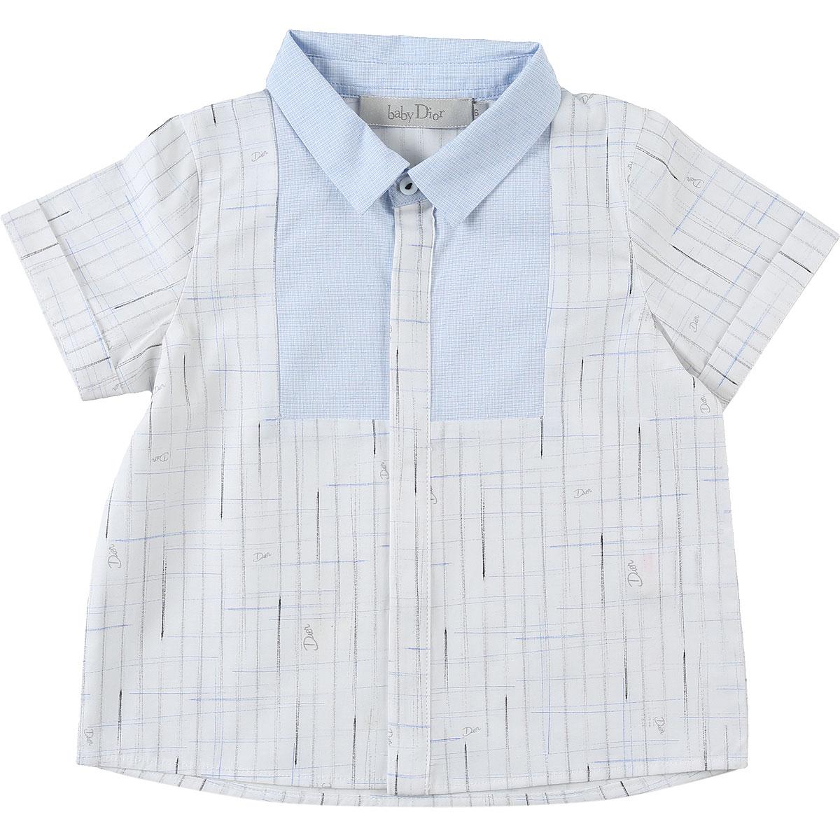 Baby Dior Chemises Bébé pour Garçon, Blanc, Coton, 2017, 12M 18M 2Y 3Y 6M 9M