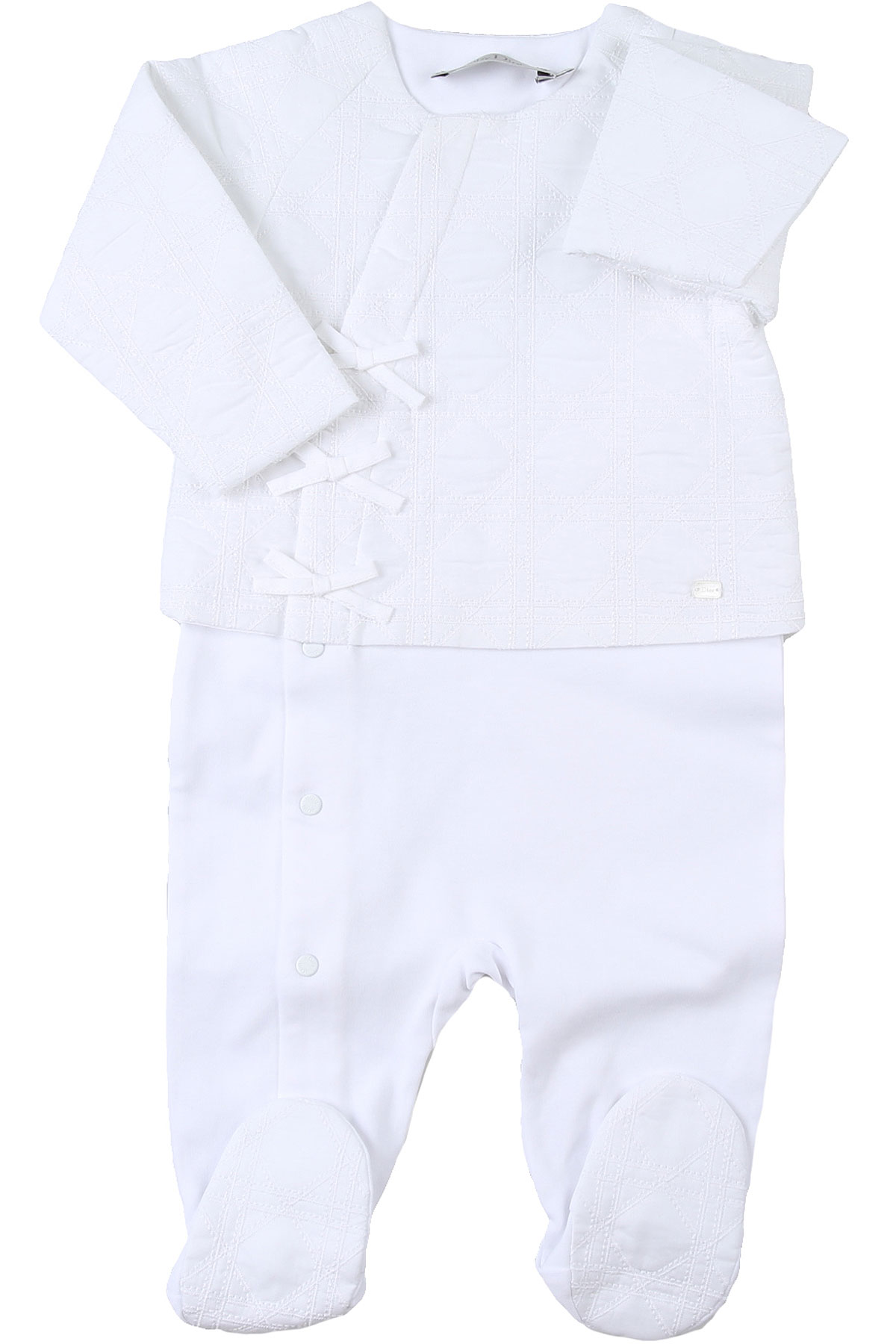 Baby Dior Baby Bodysuits & Onesies for Girls On Sale, White, Cotton, 2019, 1M 3M 6M