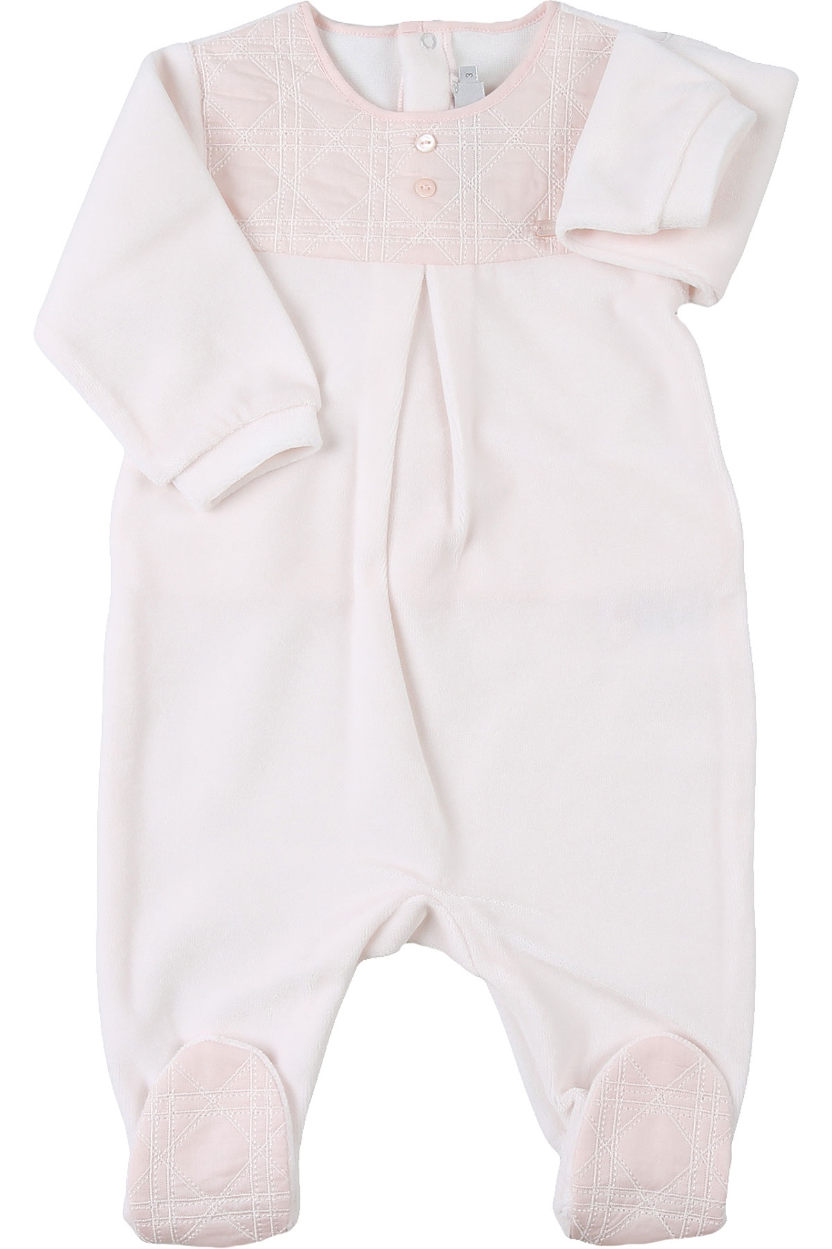 Baby Dior Baby Bodysuits & Onesies for Girls On Sale, Pink, Cotton, 2019, 1M 3M 6M