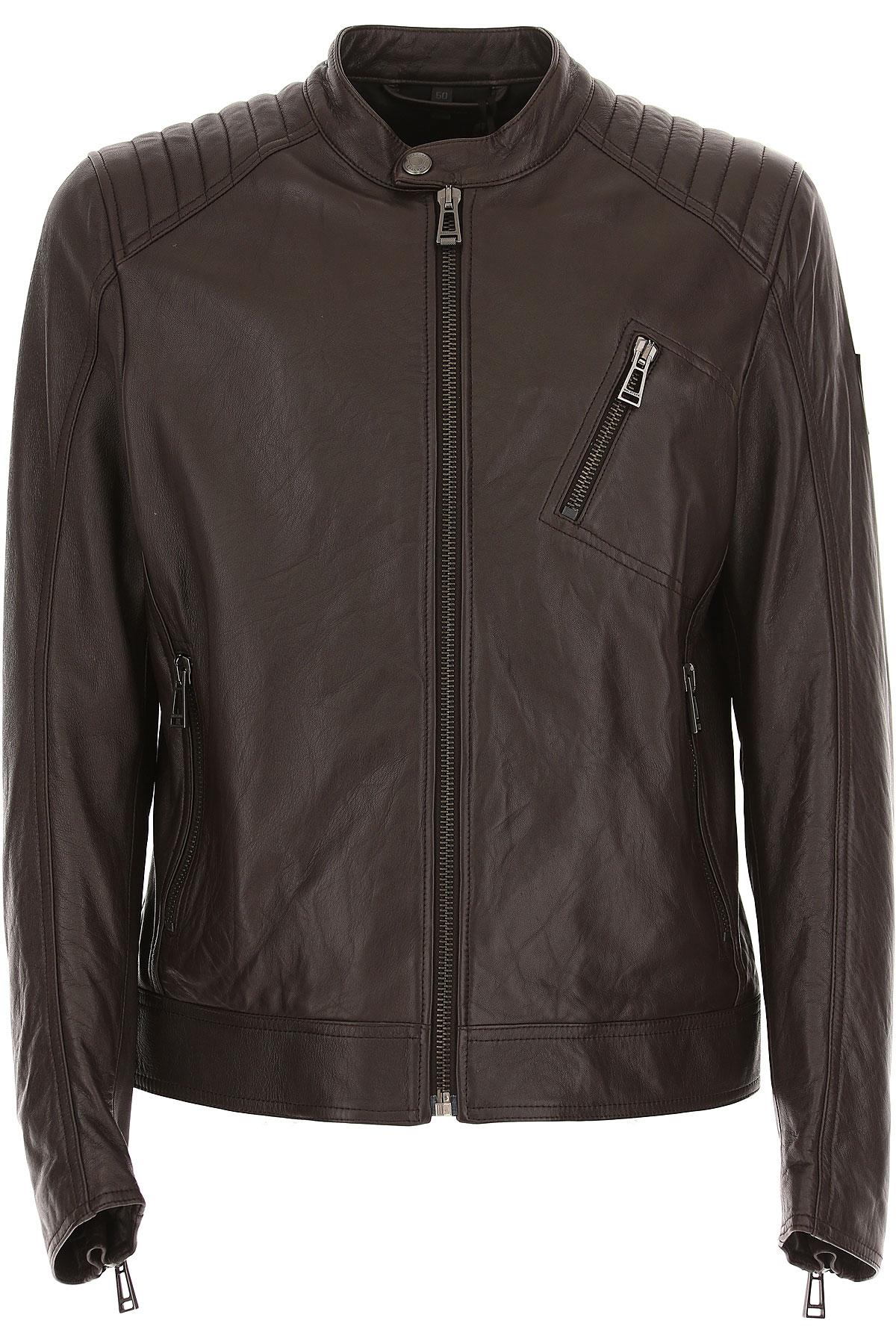 Image of Belstaff Leather Jacket for Men, Dark Brown, Leather, 2017, L M XL