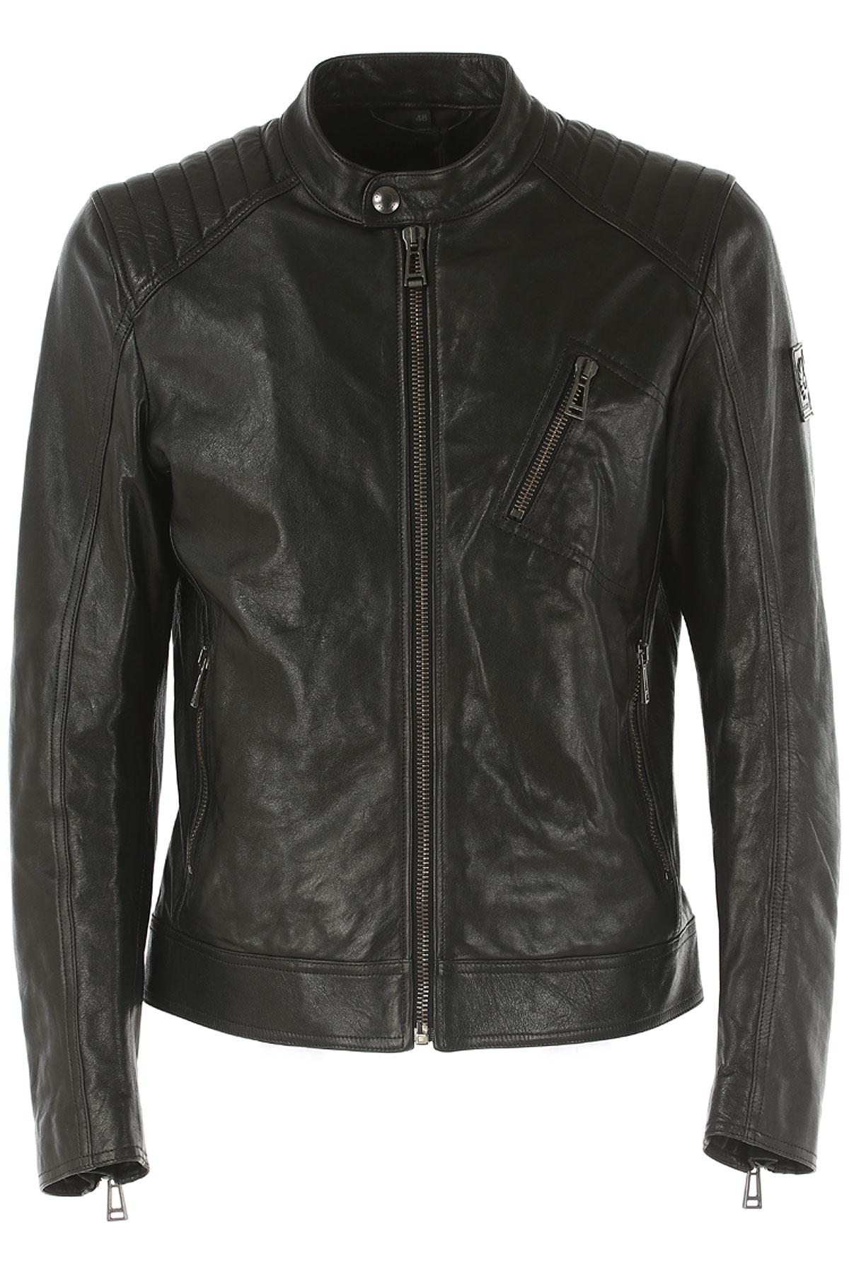 Image of Belstaff Jacket for Men, Black, Leather, 2017, L M XL