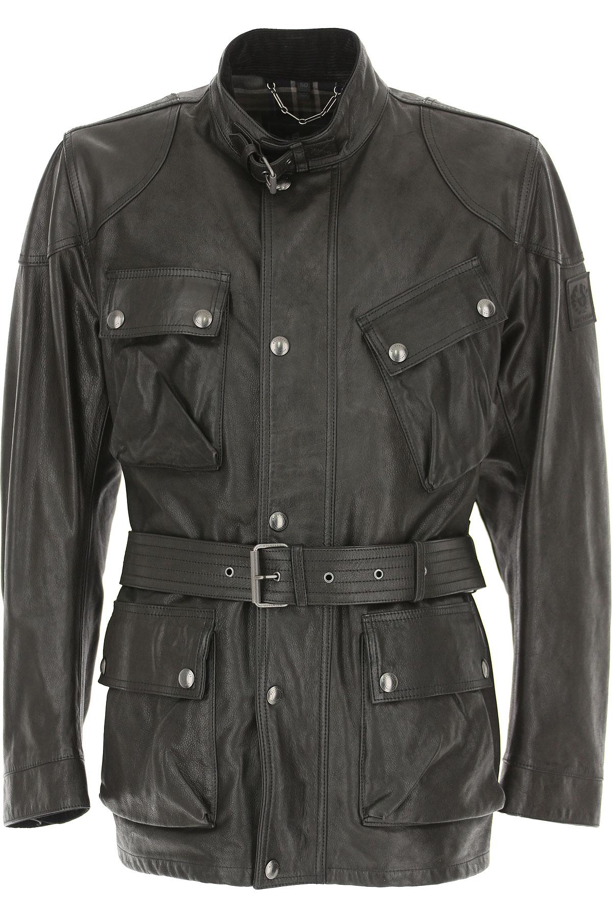 Image of Belstaff Leather Jacket for Men, Black, Leather, 2017, L XL