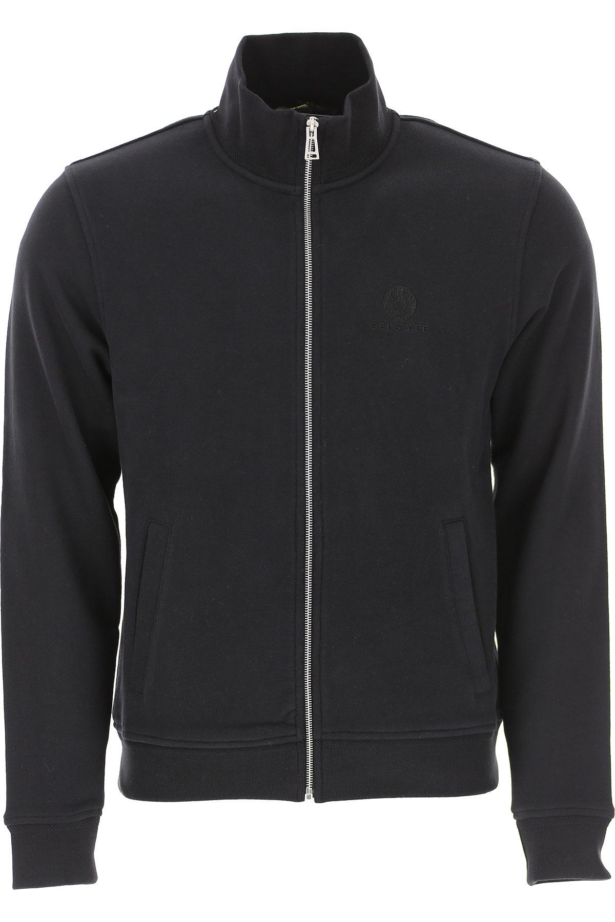 Belstaff Sweatshirt for Men On Sale, Black, Cotton, 2019, L M S