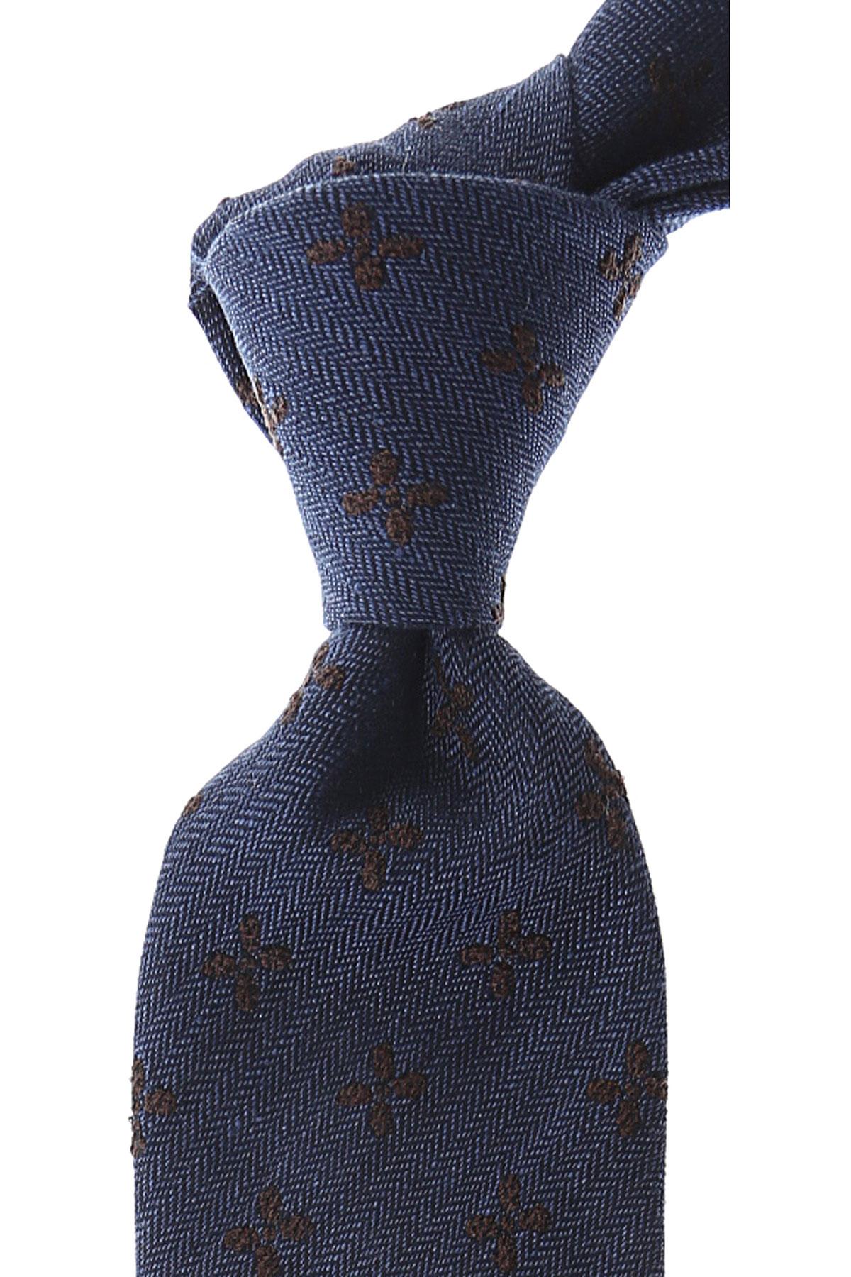 Belvest Cravates Pas cher en Soldes, Bleu nuit, Soie, 2017