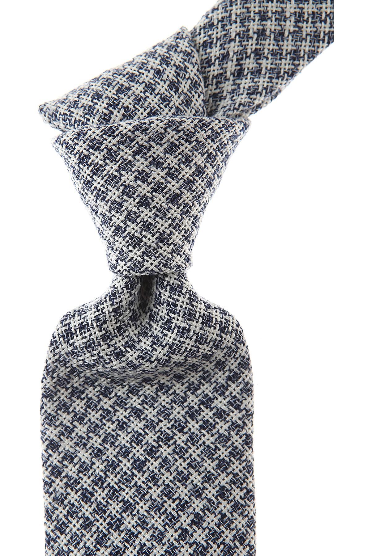 Belvest Cravates Pas cher en Soldes, Bleu marine, Soie, 2017