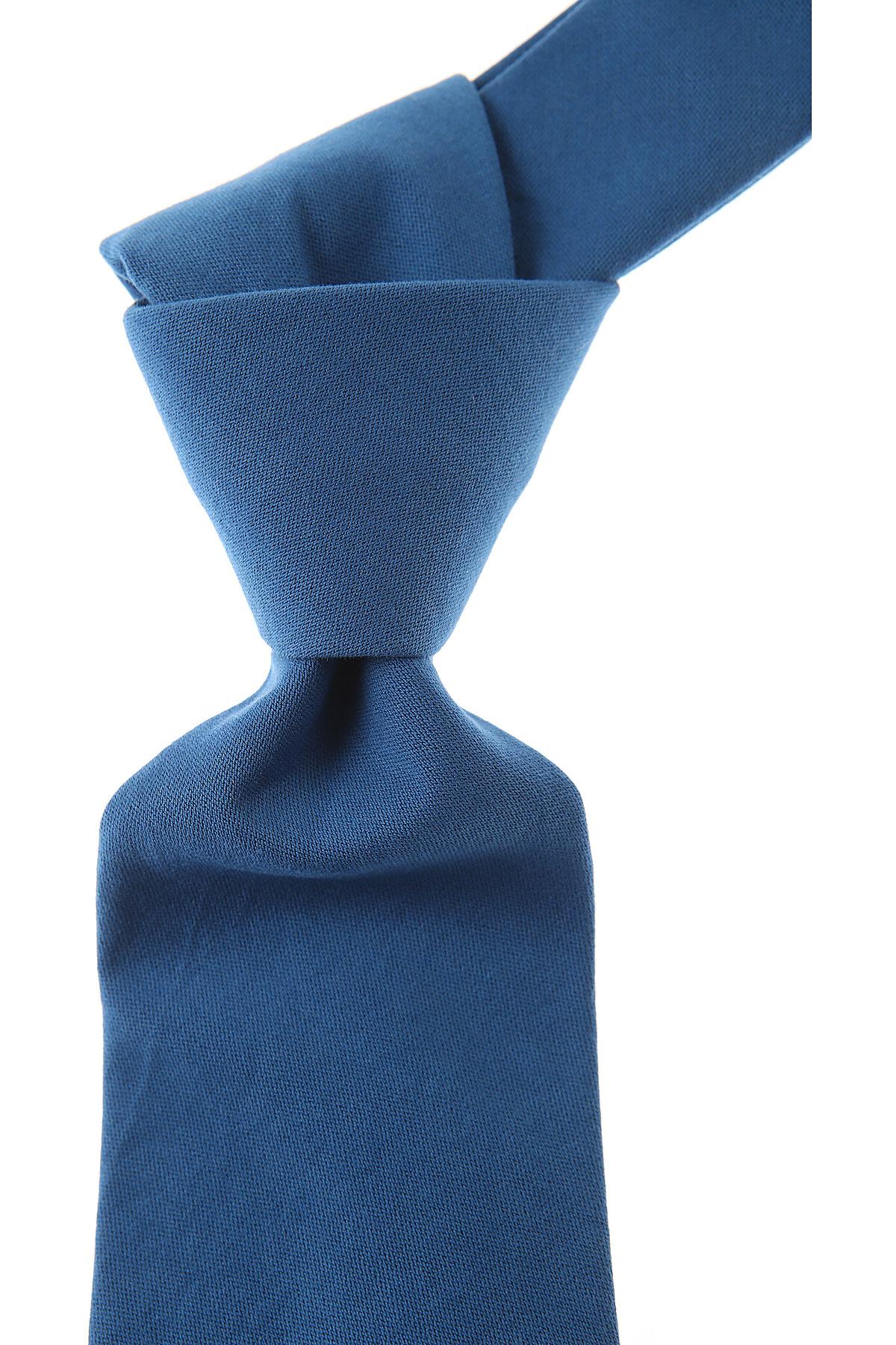 Belvest Cravates Pas cher en Soldes, Bleu ciel, Coton, 2019