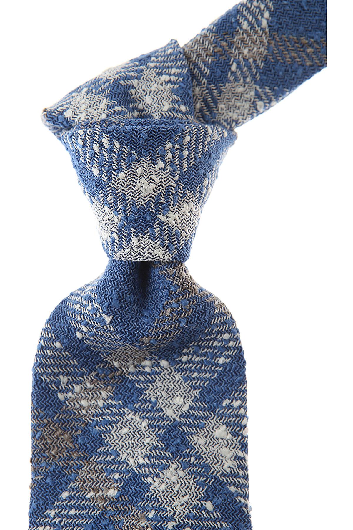 Belvest Cravates Pas cher en Soldes, Bleu ciel, Lin, 2017