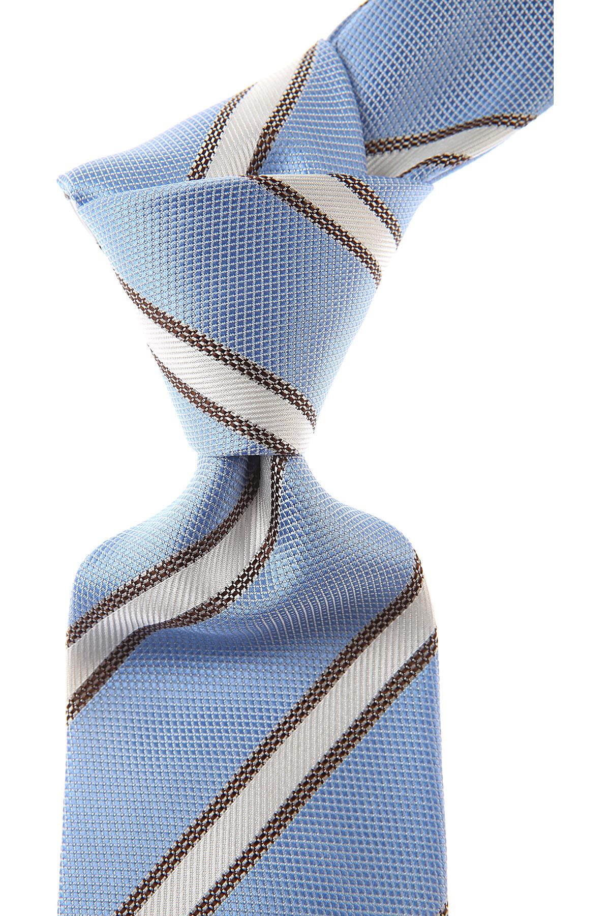 Belvest Cravates Pas cher en Soldes, Bleu ciel clair, Soie, 2017