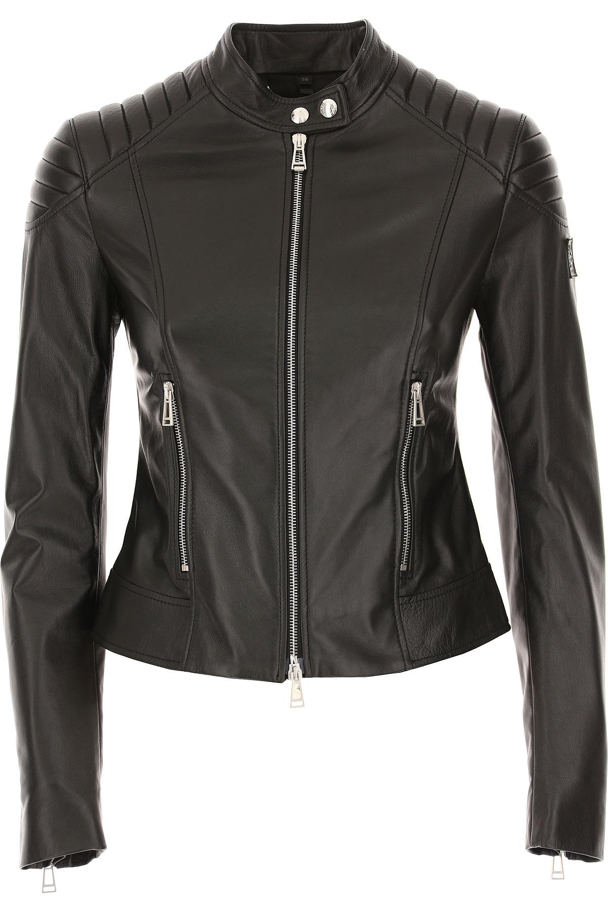 Image of Belstaff Jacket for Women, Black, Leather, 2017, 2 4