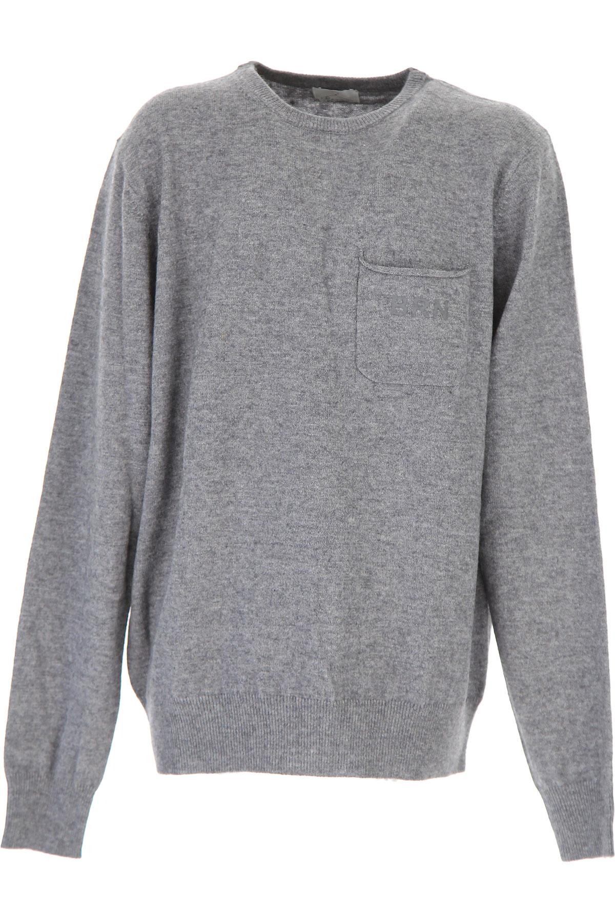 Image of Berna Kids Sweaters for Boys, Grey Melange, Wool, 2017, 14Y 16Y
