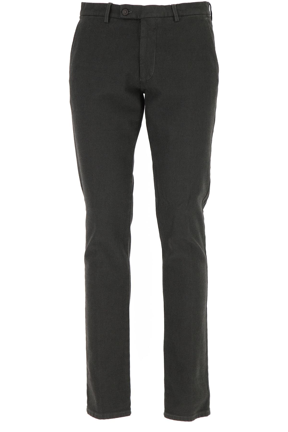 Image of Berwich Pants for Men, Asphalt Grey, Cotton, 2017, 30 34 36 38