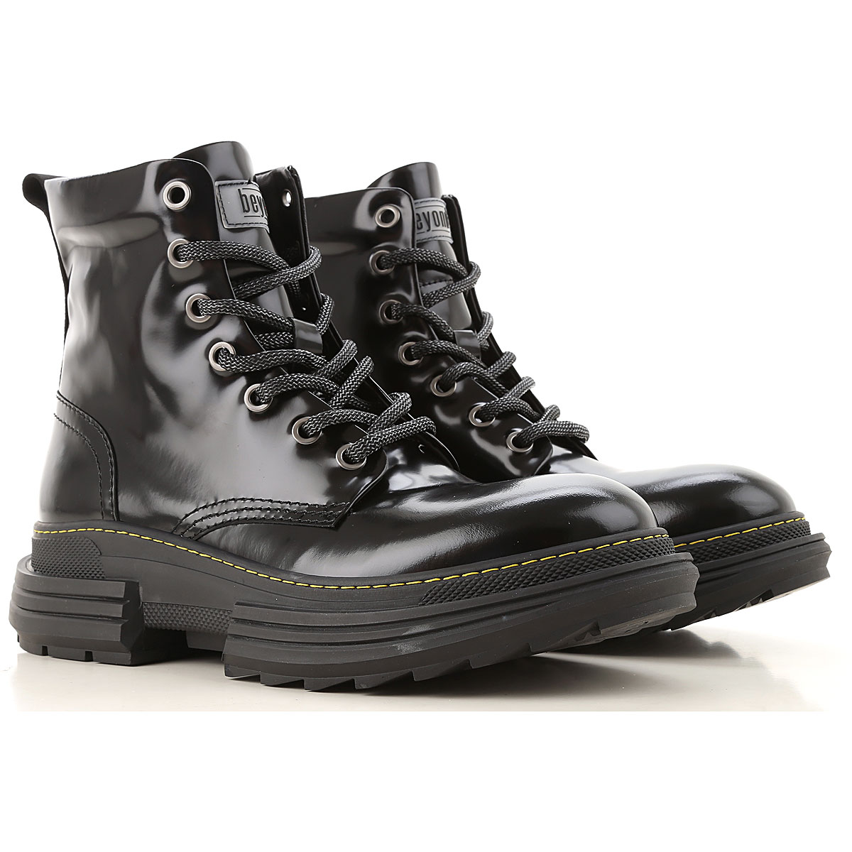 Beyond Boots for Men, Booties, Black, Leather, 2019, 10 10.5